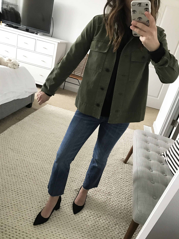 northward cropped army jacket 1