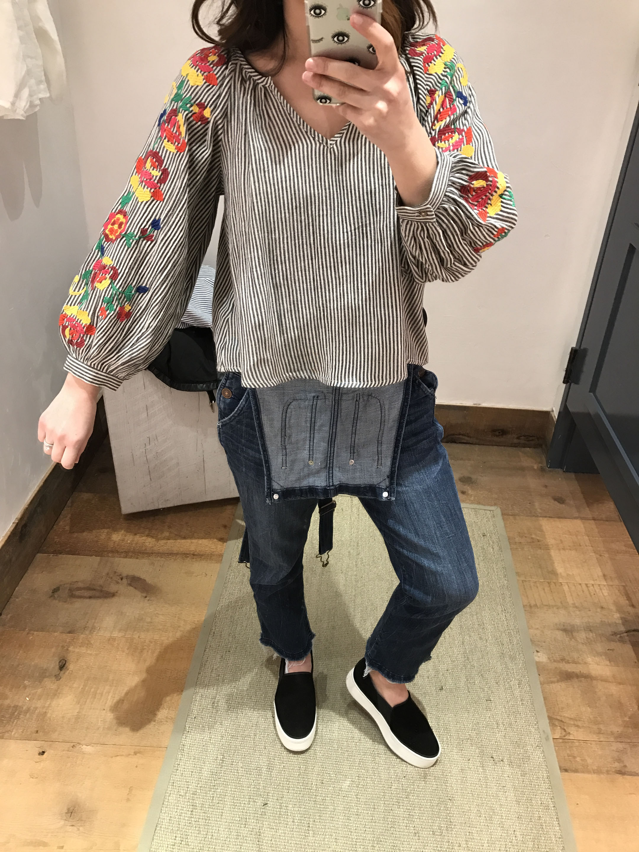 Anthropologie Embroidered soleil top 1