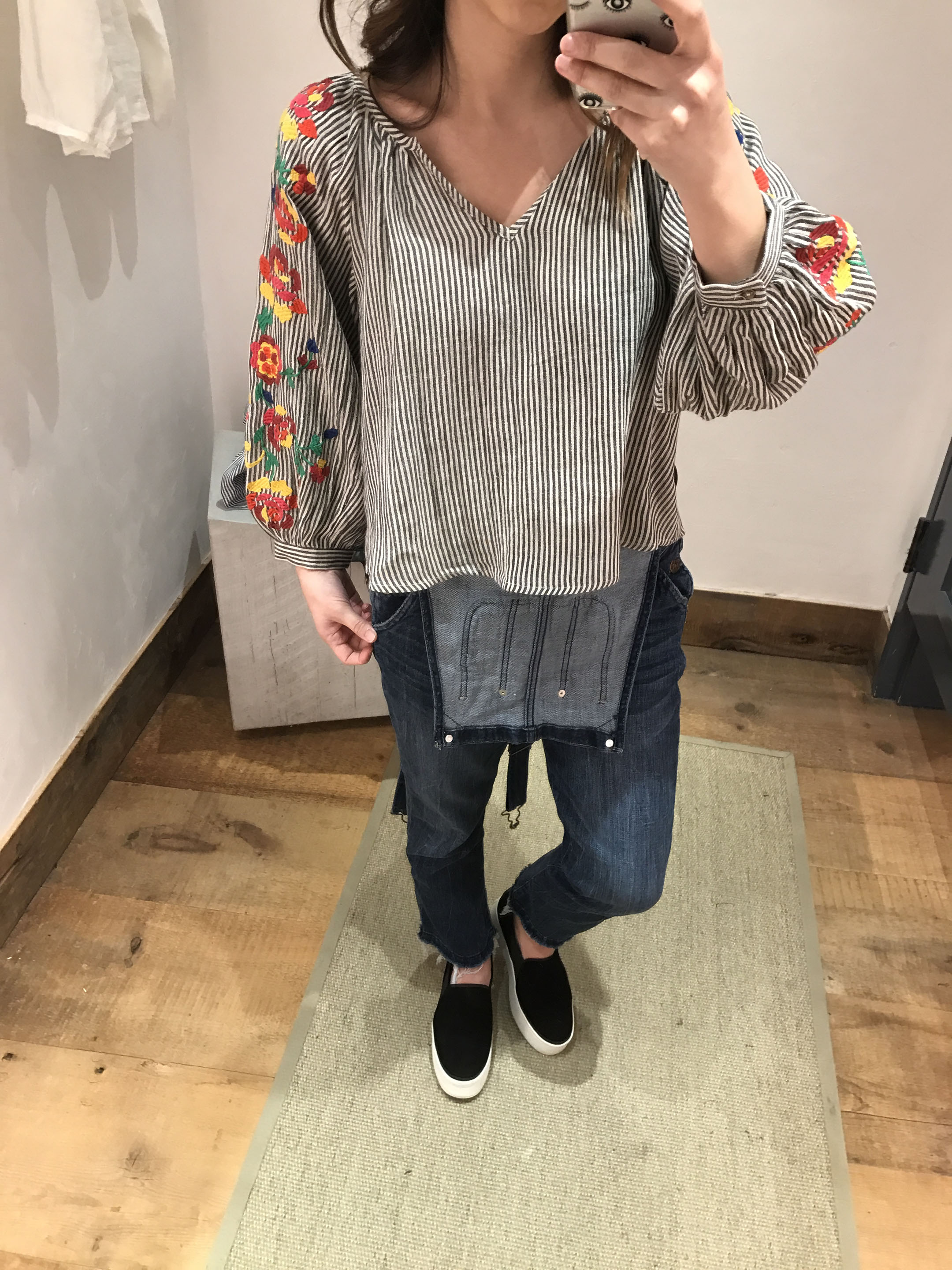 Anthropologie Embroidered soleil top 2