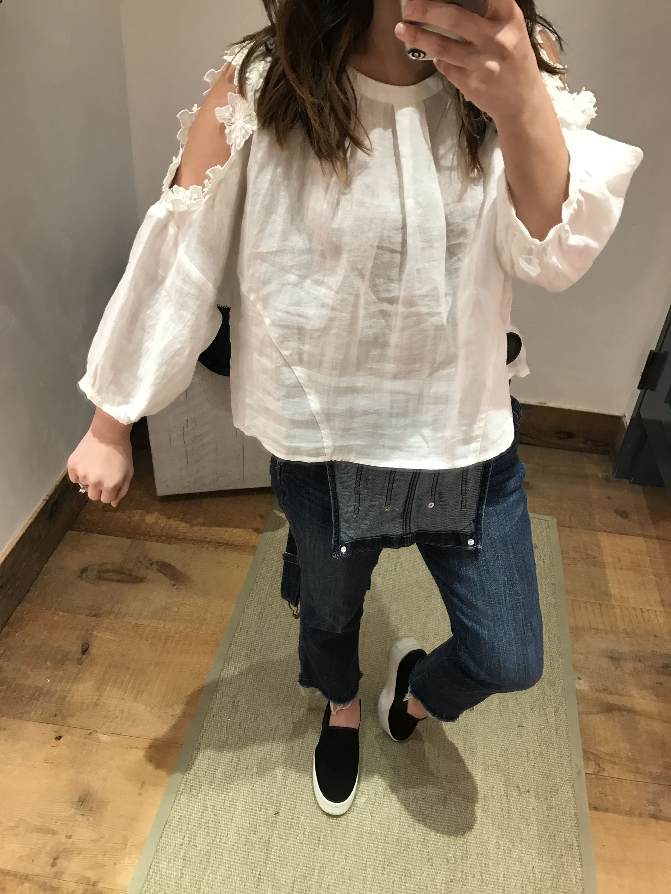 Anthropologie Floral texture blouse 1