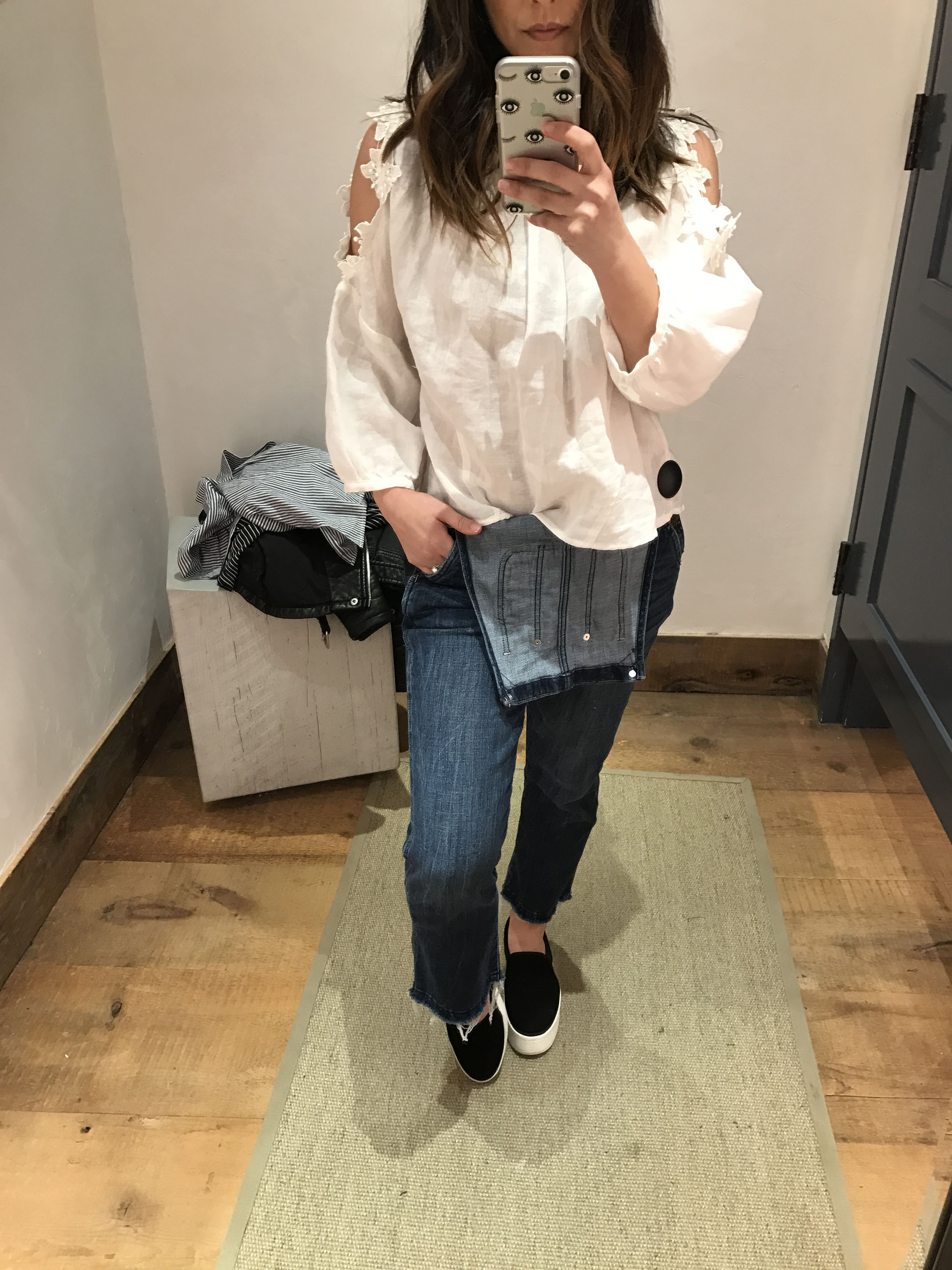 Anthropologie Floral texture blouse 2