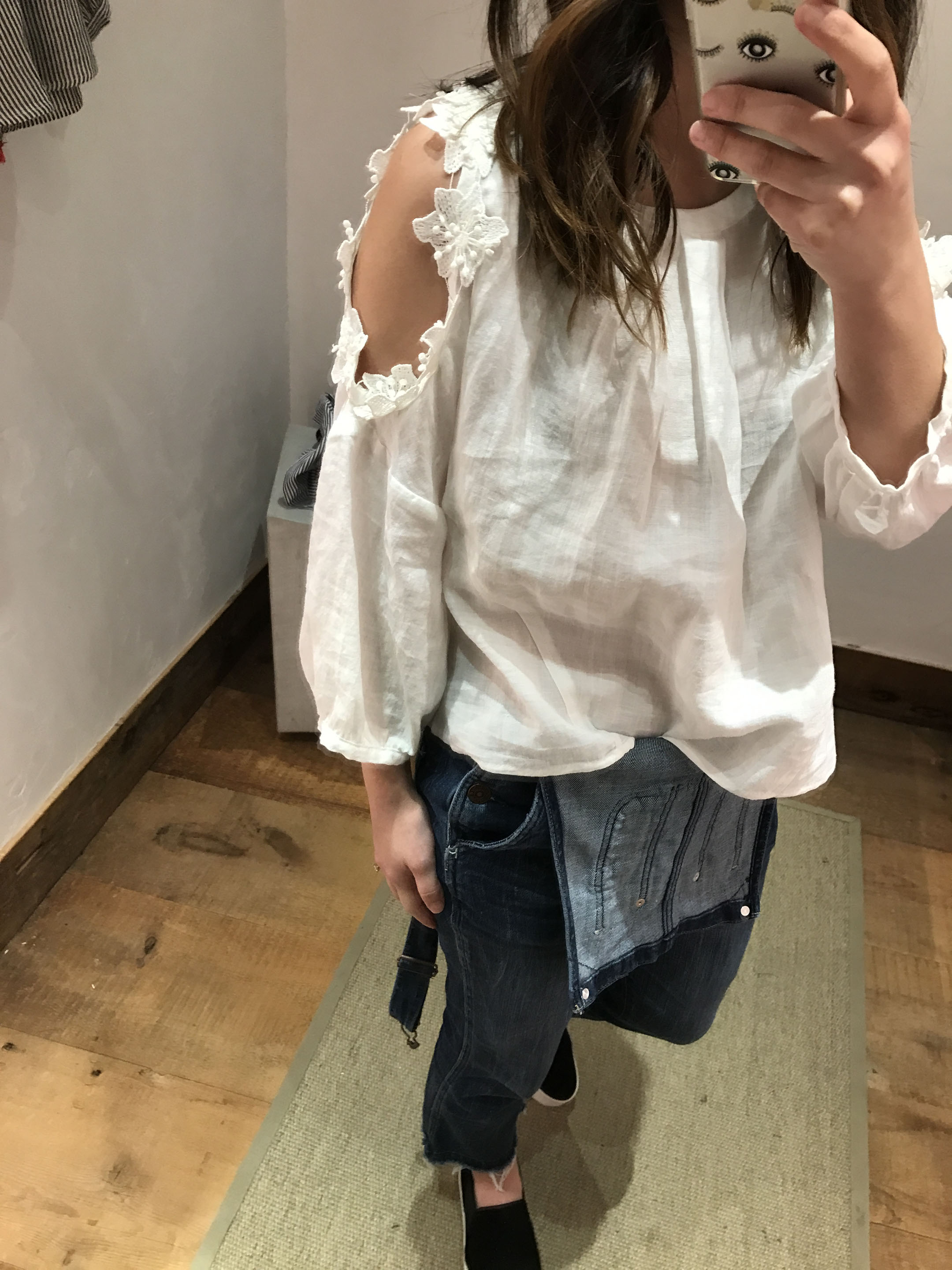 Anthropologie Floral texture blouse 3