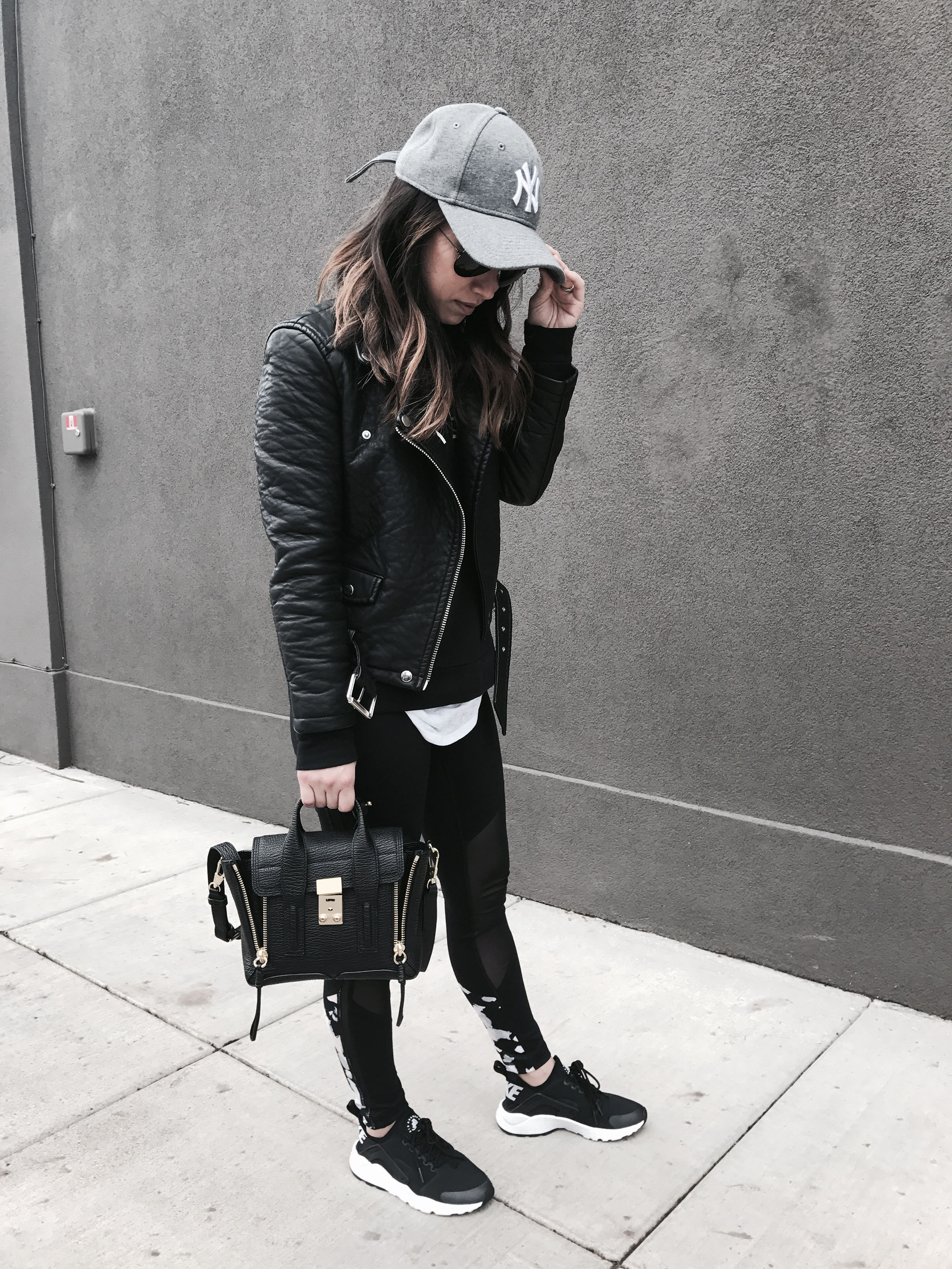 Crystalin Marie wearing nike huarache sneakers