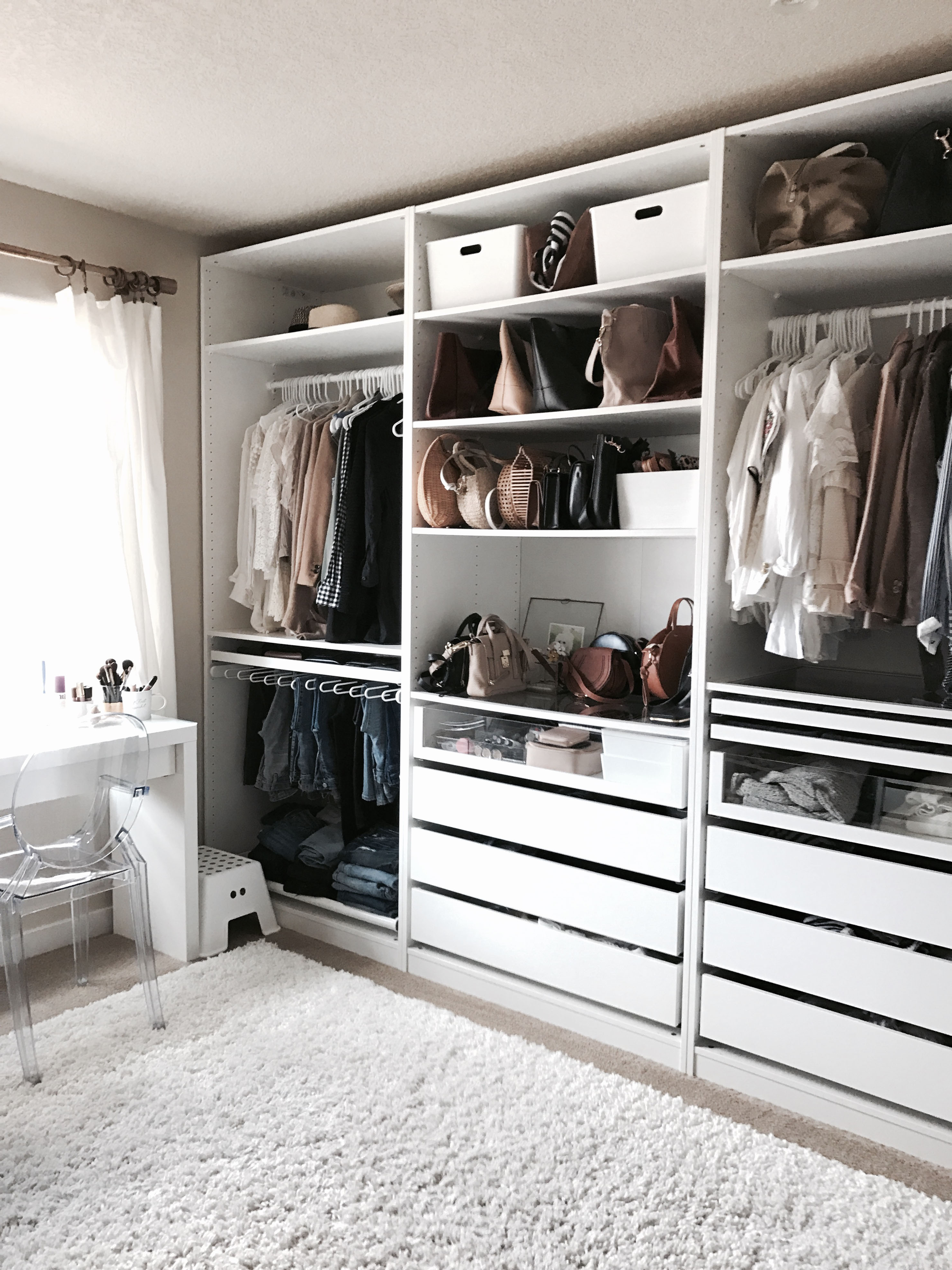 Weekend recap 11 crystalin marie for Walk in bedroom closet designs