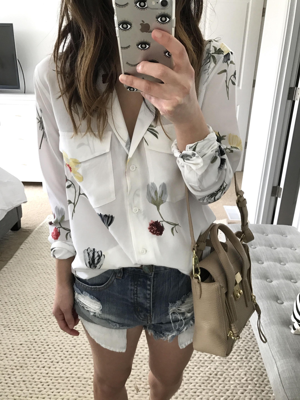 Equipment floral blouse 4