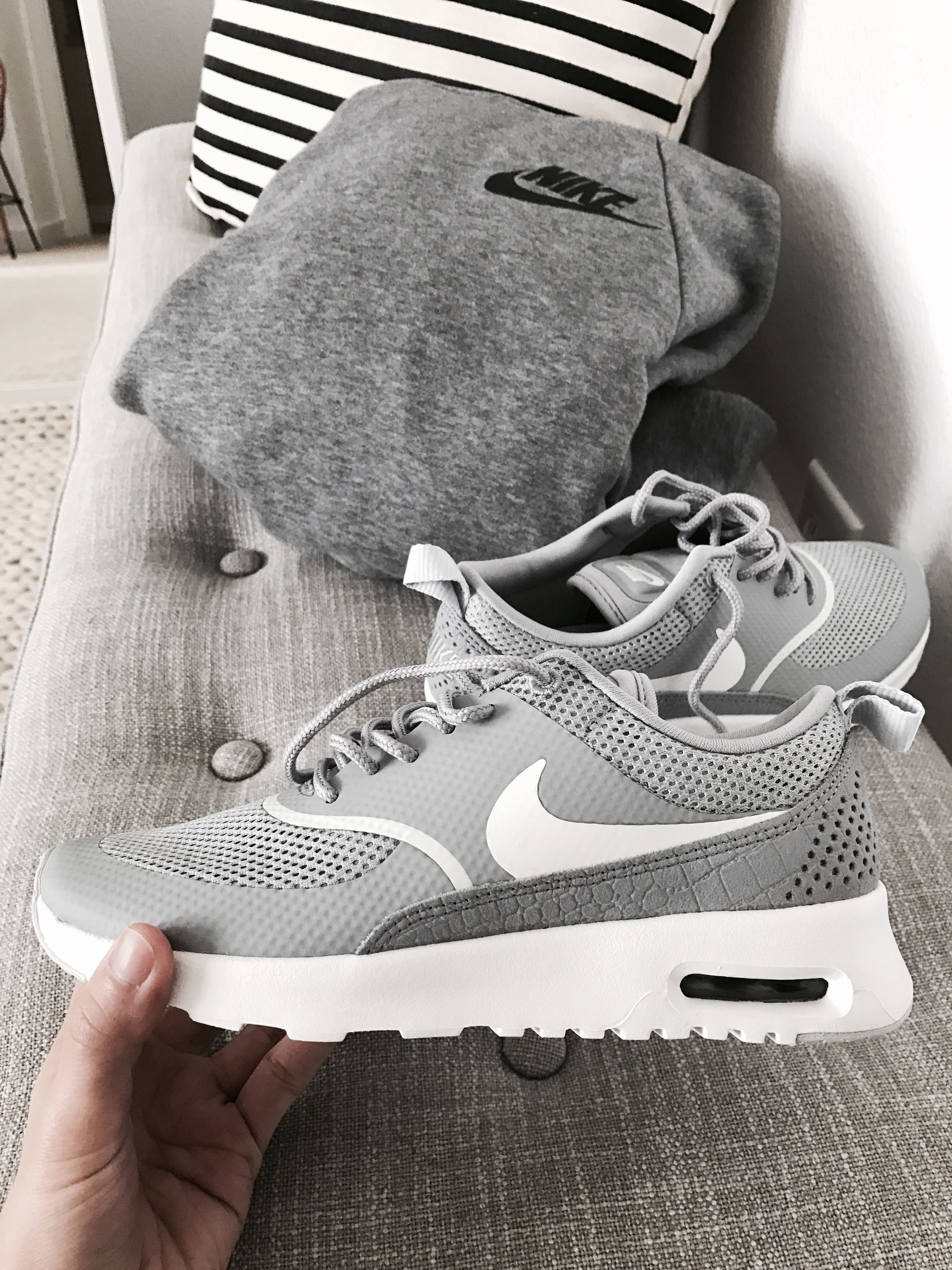 Nike Thea gray sneakers