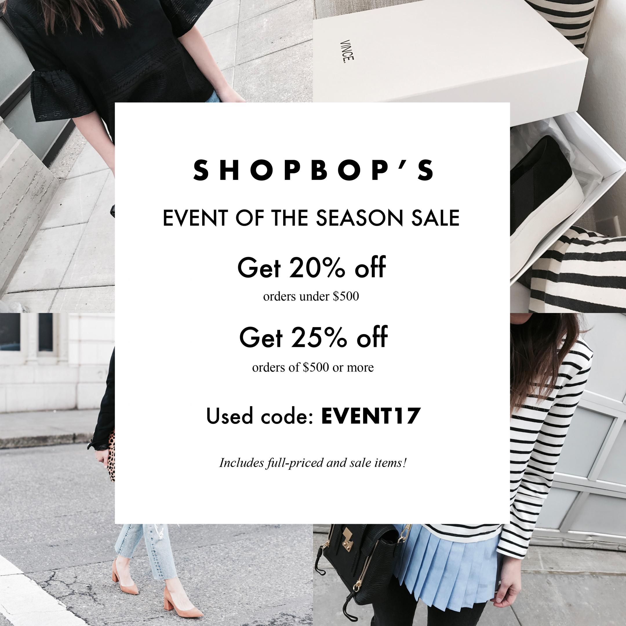 Shopbop's event of season sale