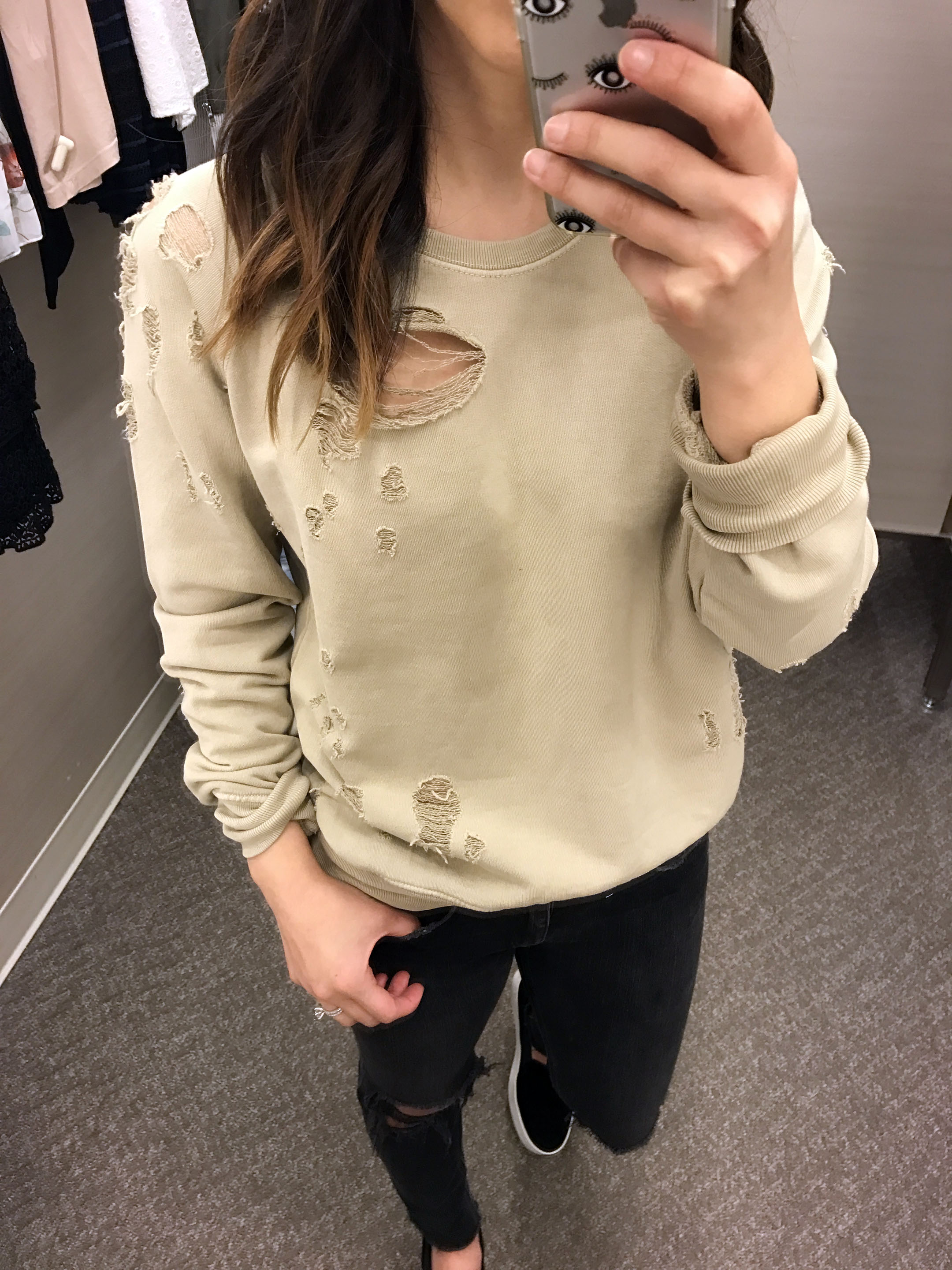Sincerely Jules Destroyed cotton sweatshirt 2
