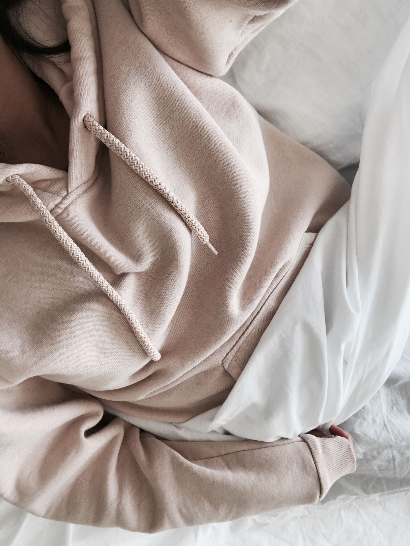 Topshop nude hoodie