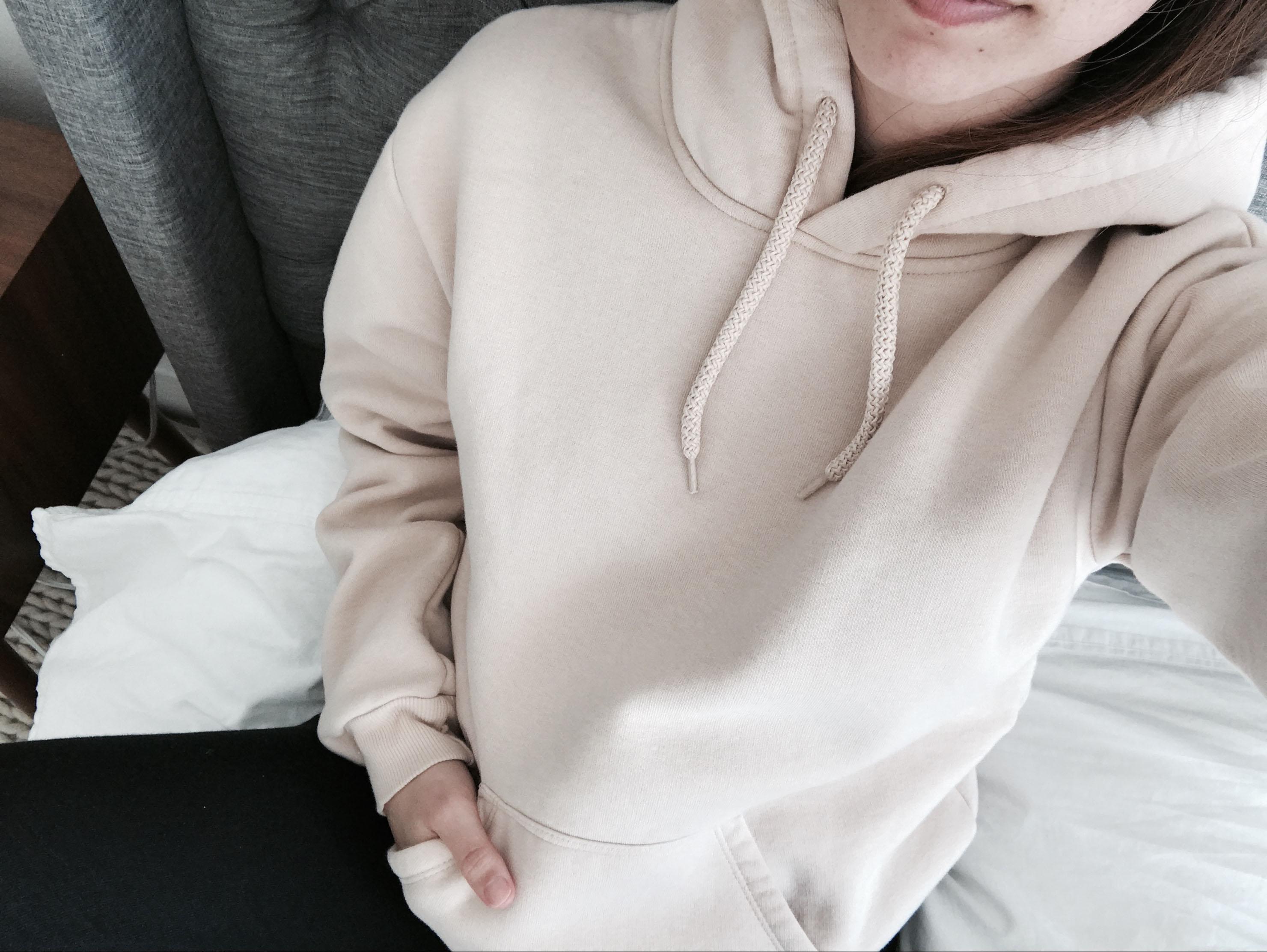 Topshop nude sweatshirt