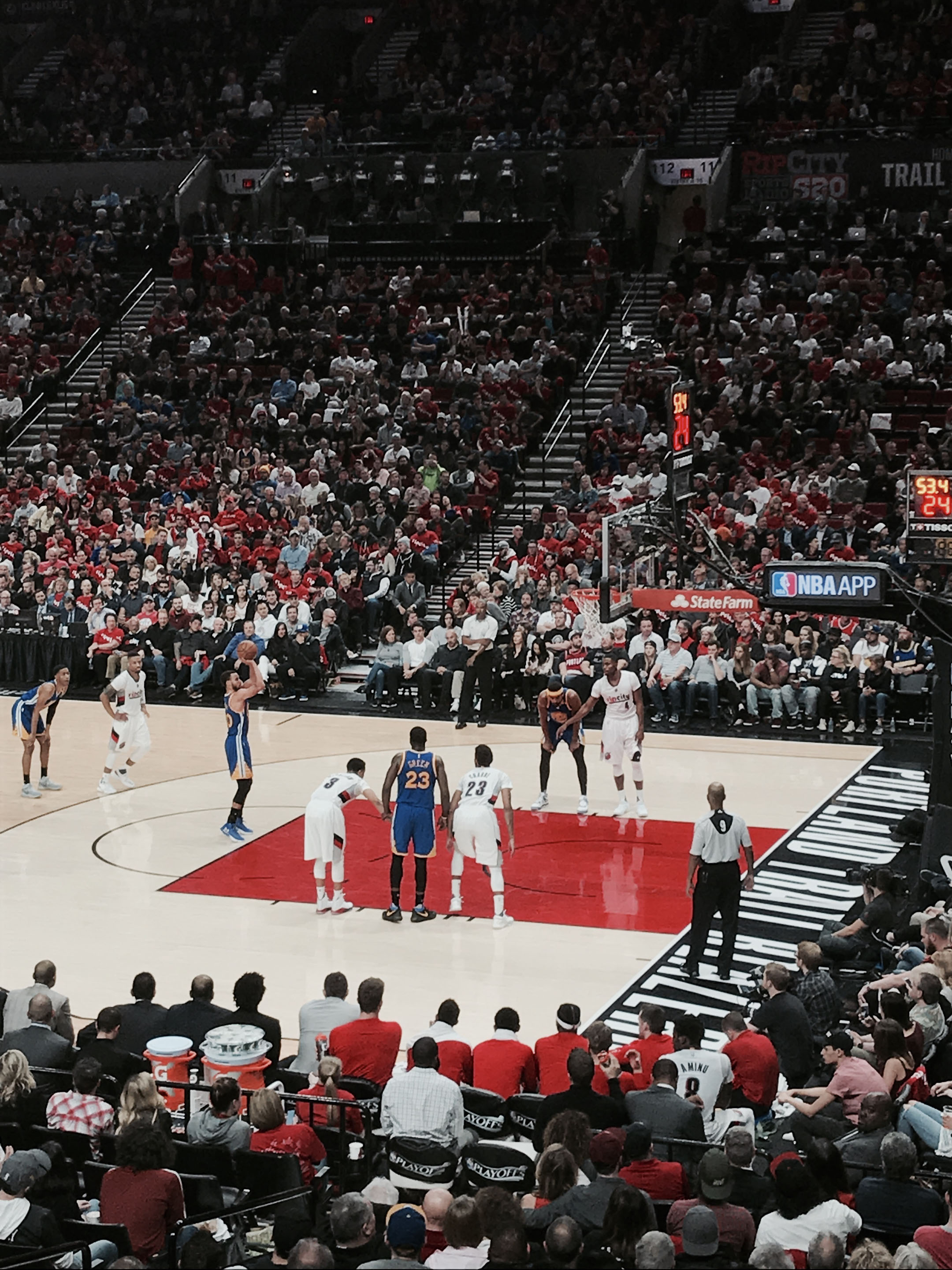 Warriors vs Blazers