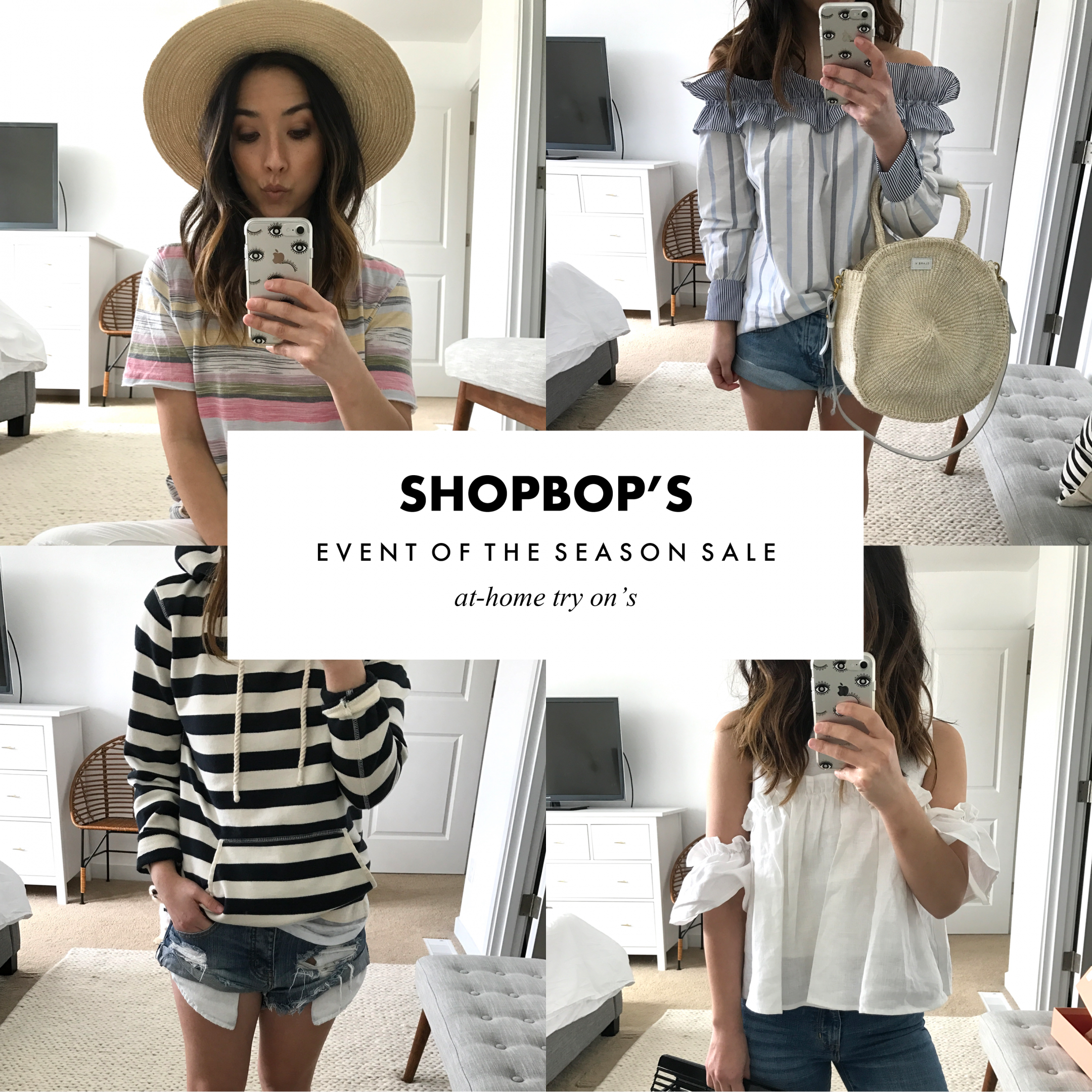 shopbop's event of the season sale at home try ons
