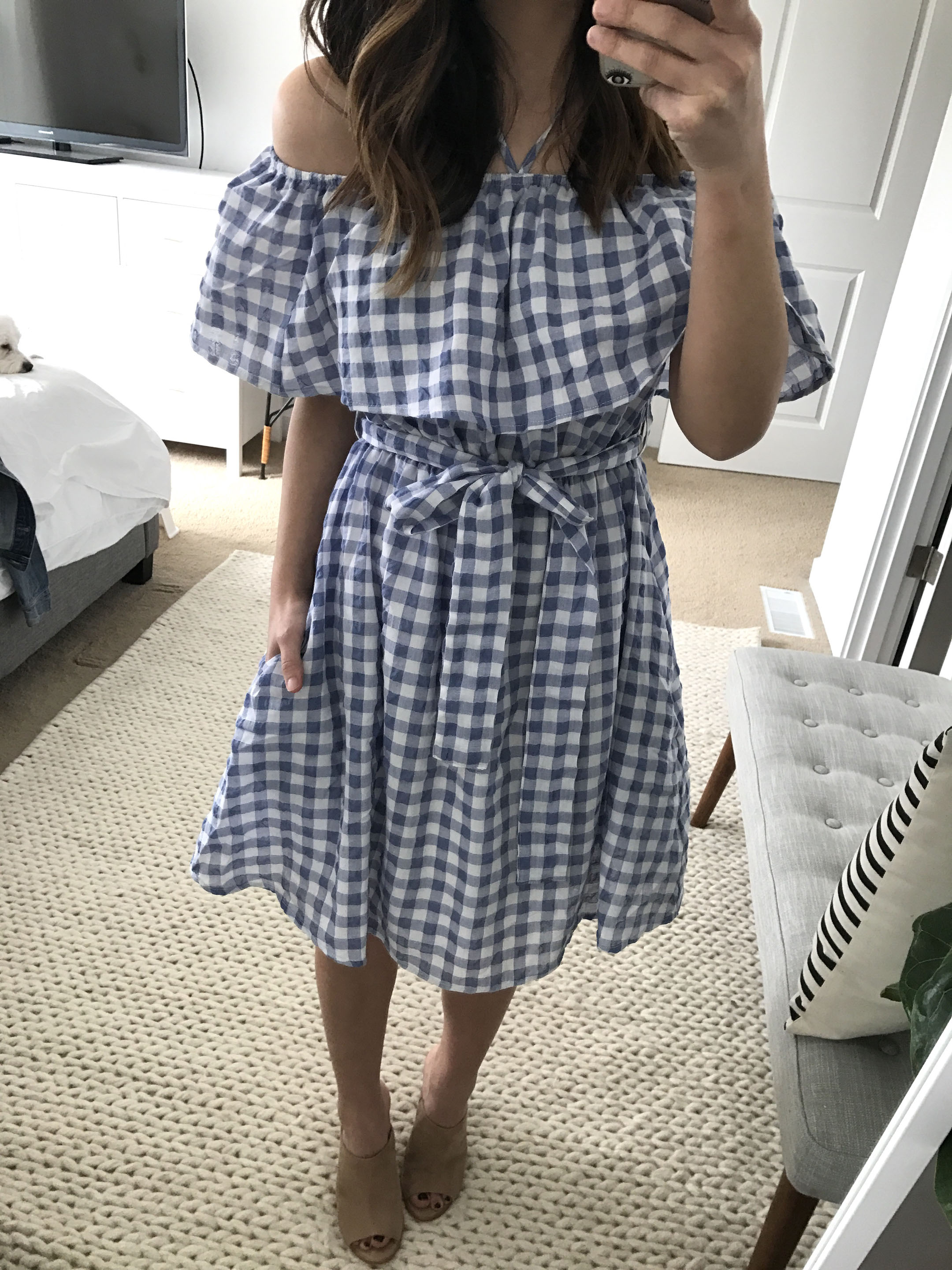 Anthropologie gingham dress 1