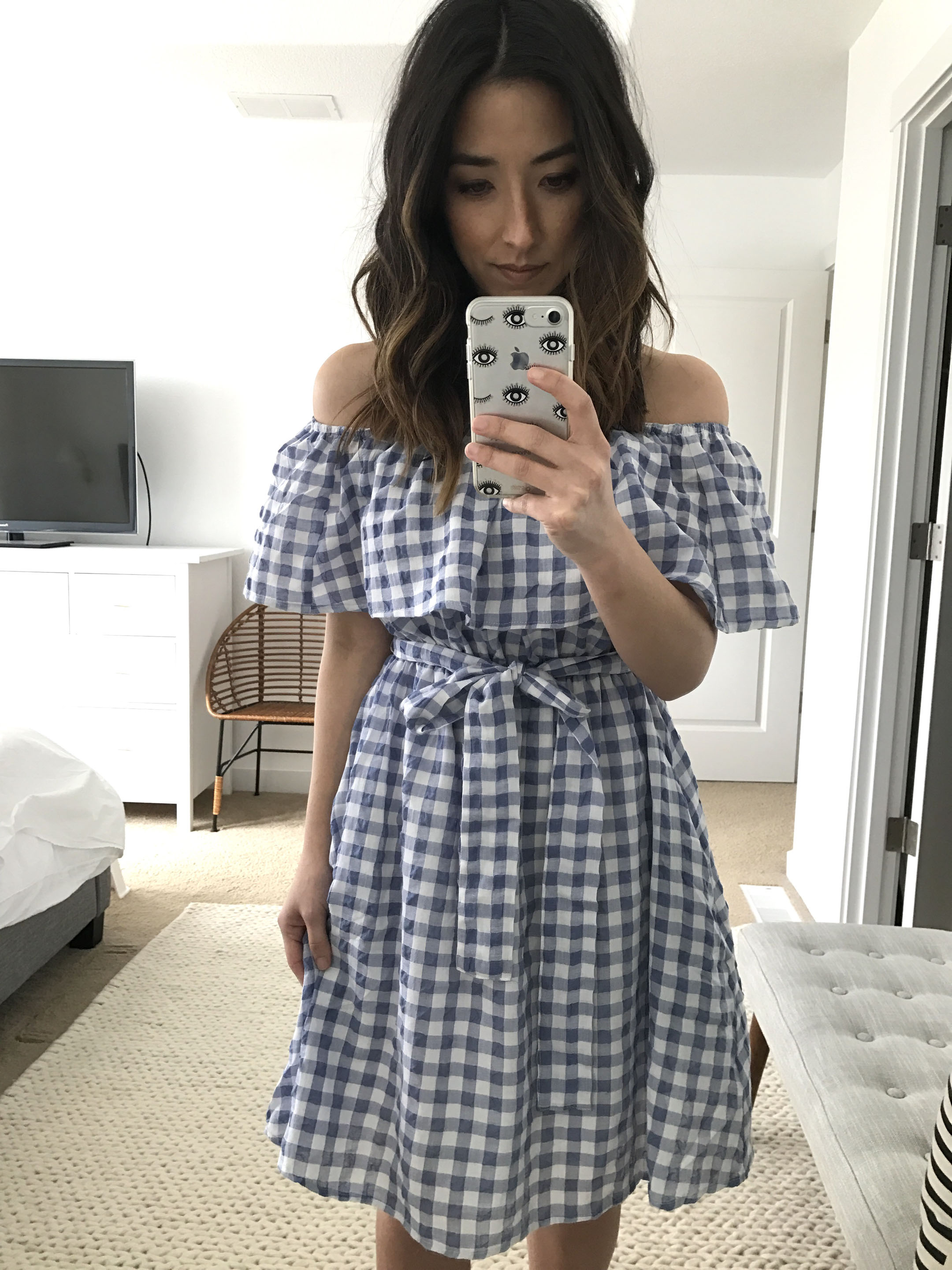 Anthropologie gingham dress 2
