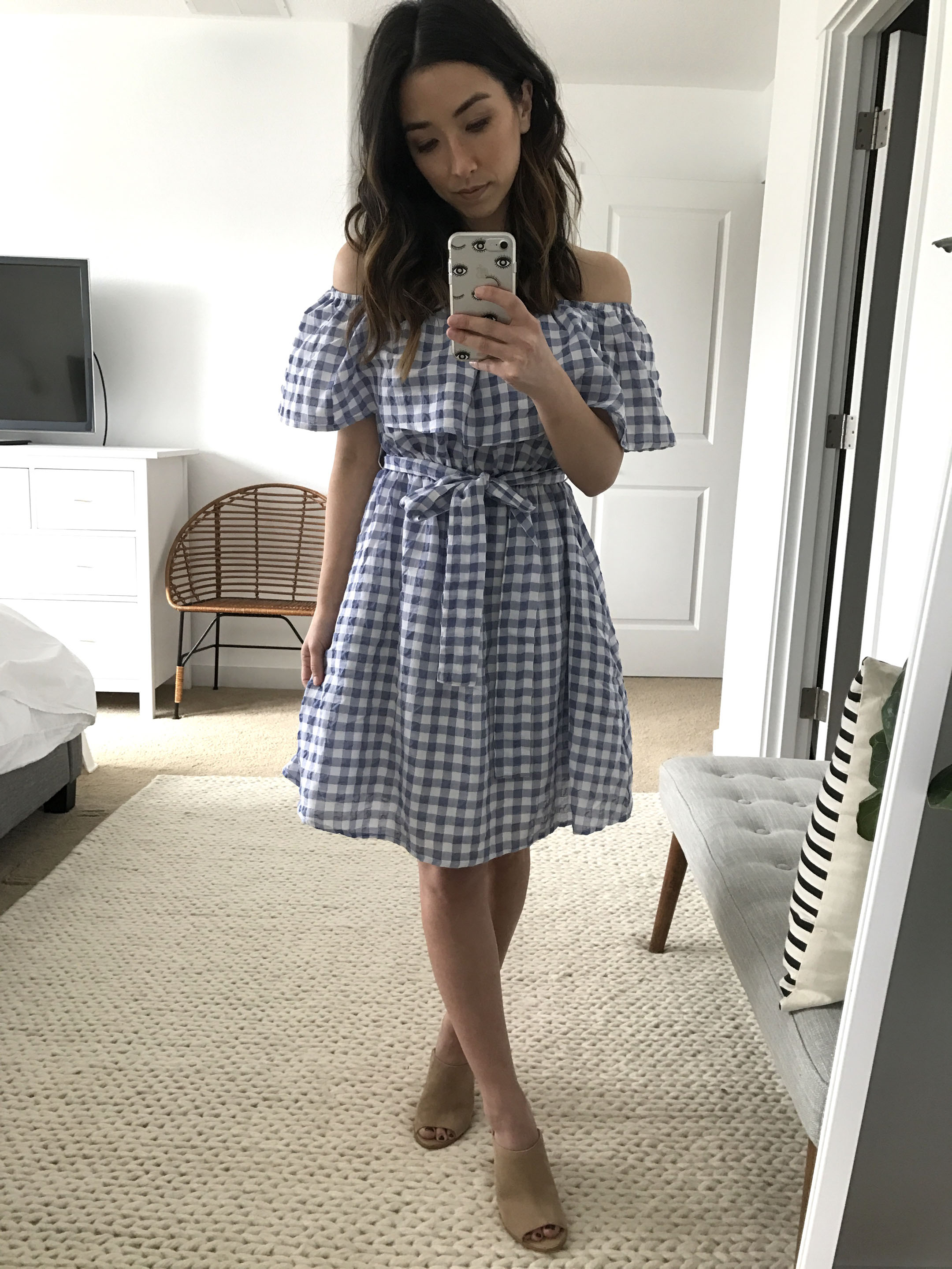 Anthropologie gingham dress 3