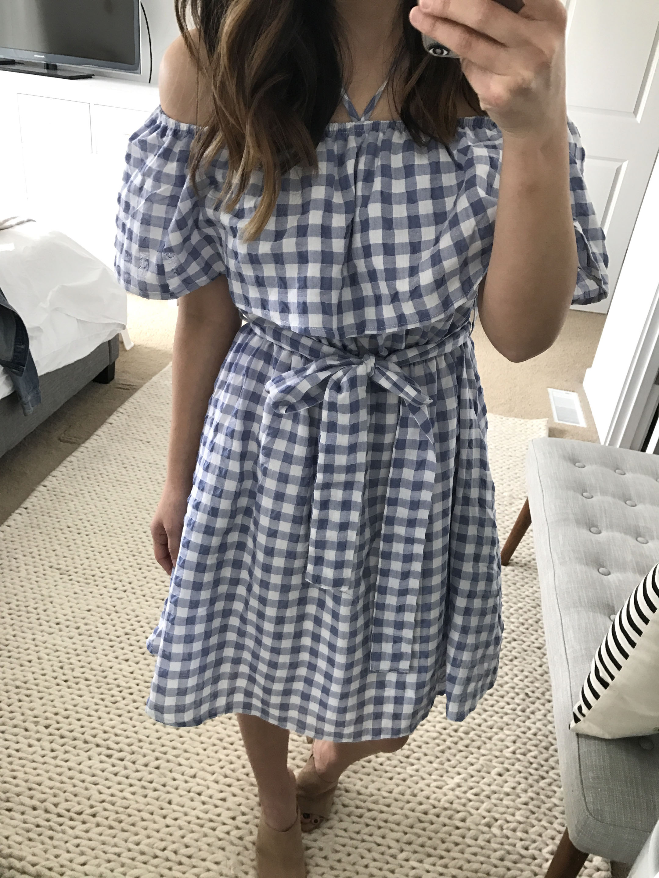 Anthropologie gingham dress 4