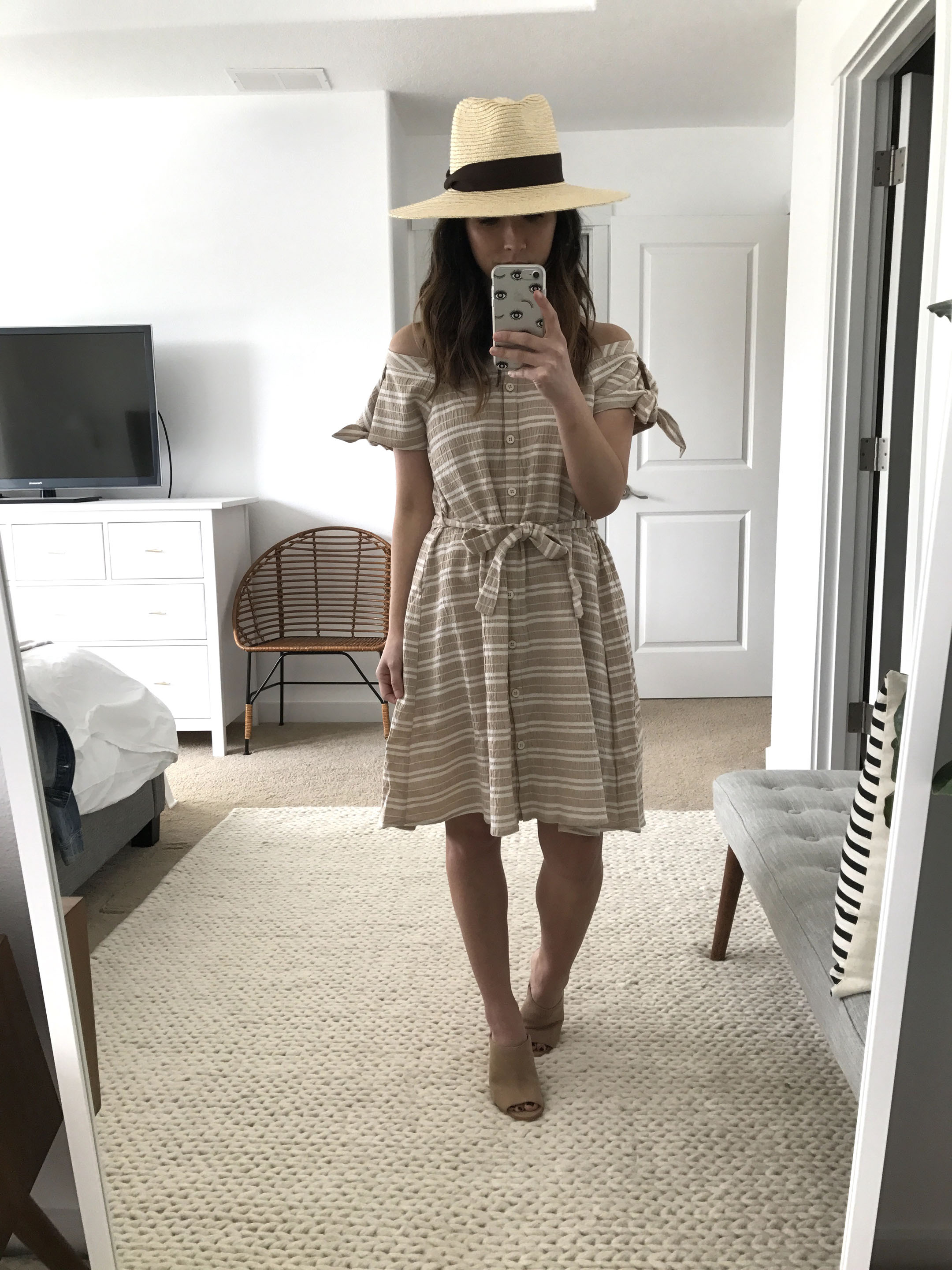 Anthropologie nude dress 1