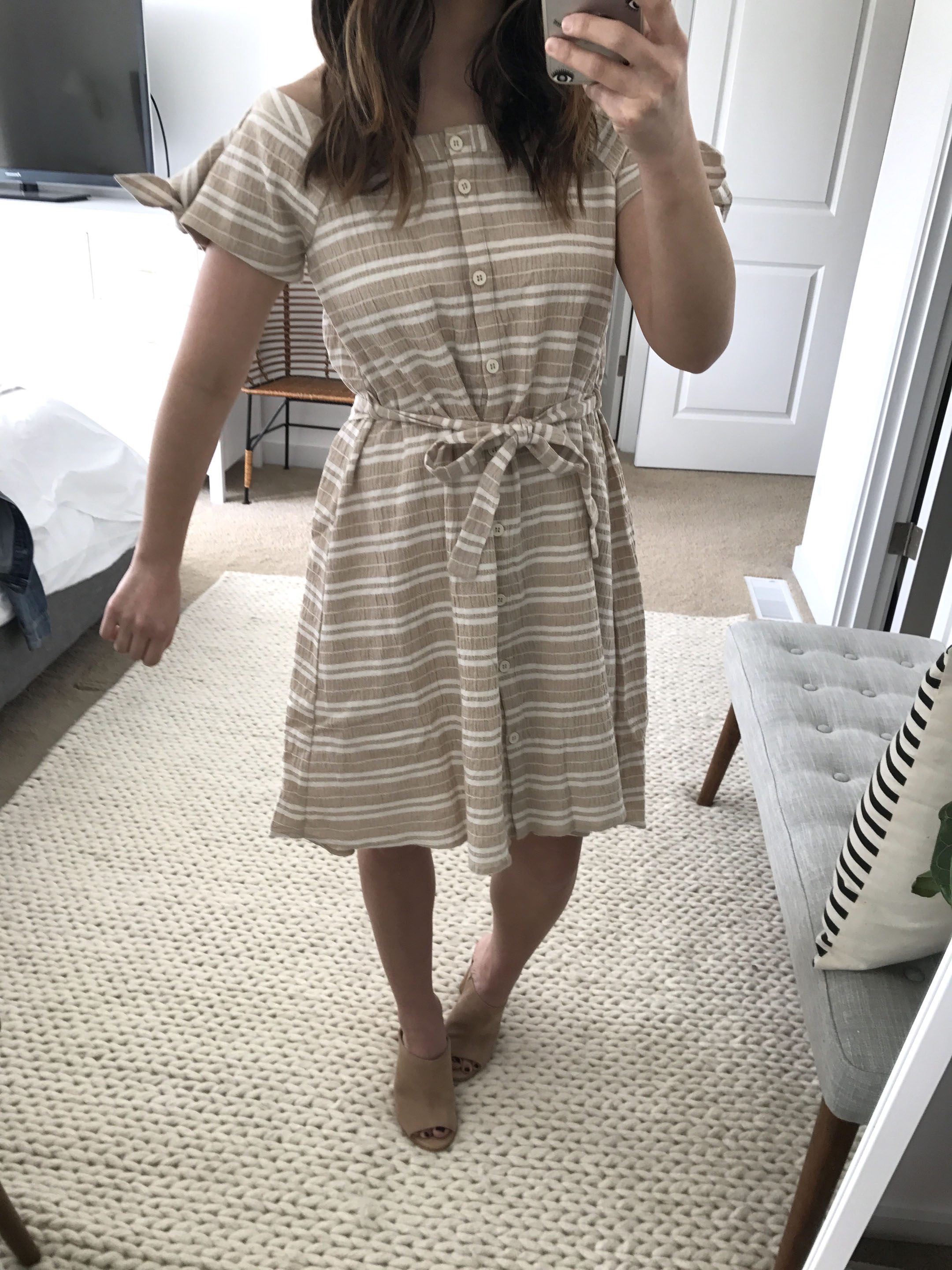 Anthropologie nude dress 2