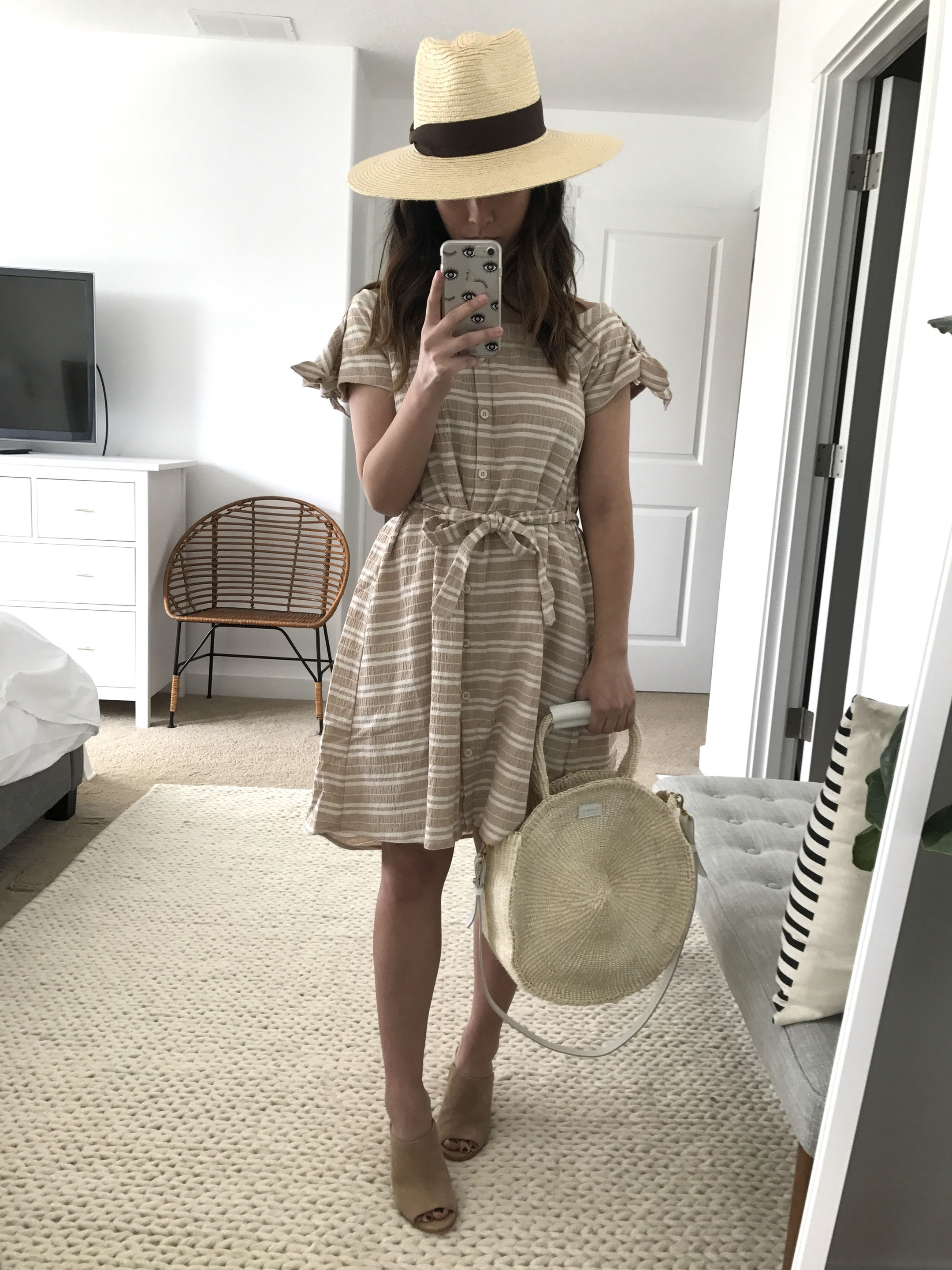Anthropologie nude dress 3