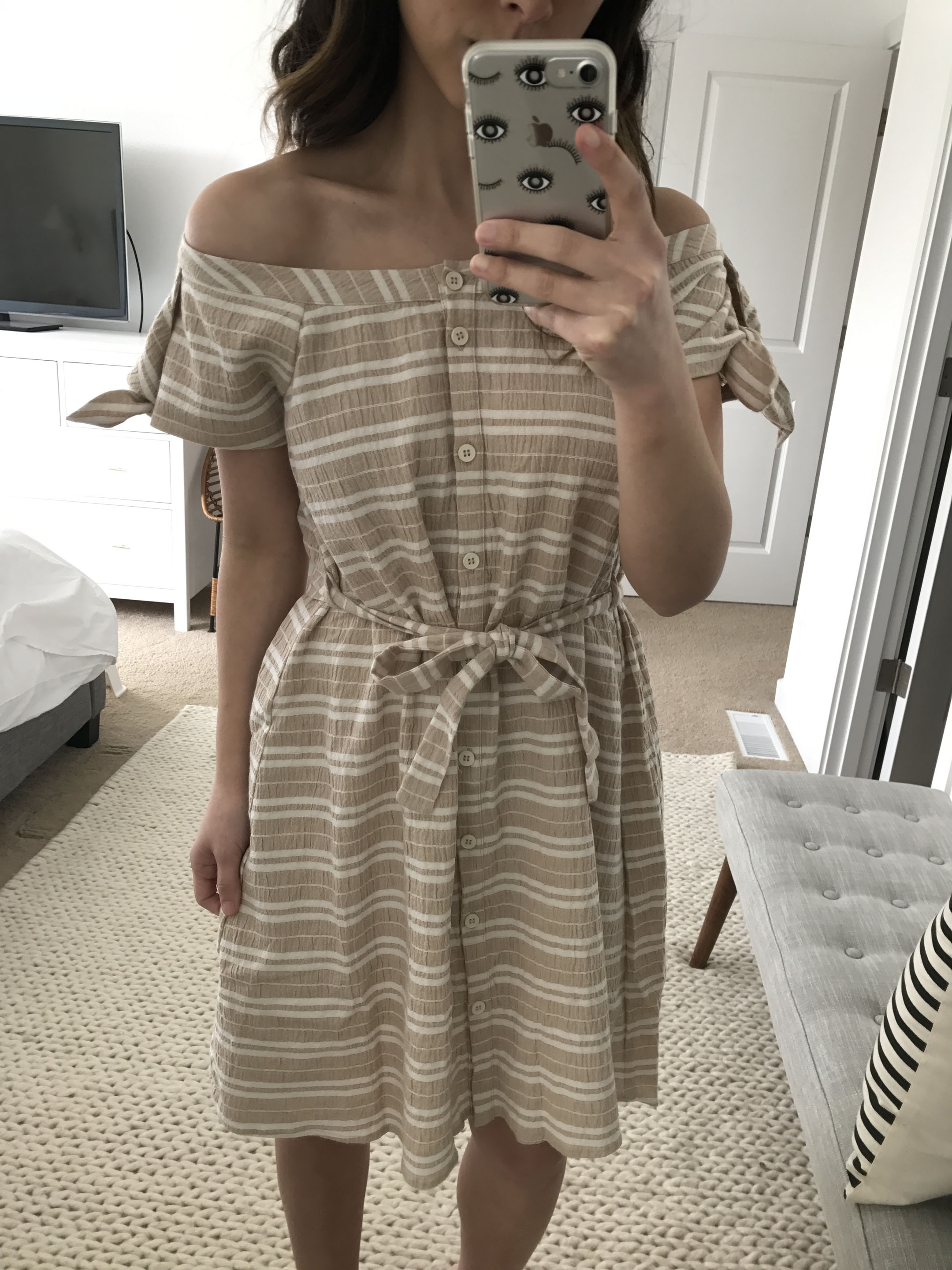 Anthropologie nude dress 4