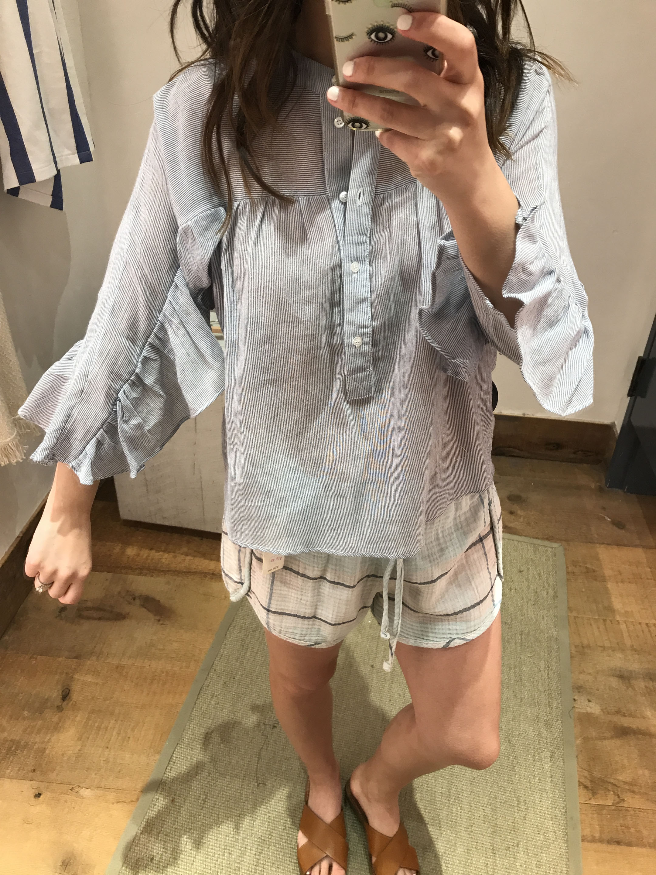 Anthropologie striped blouse 1