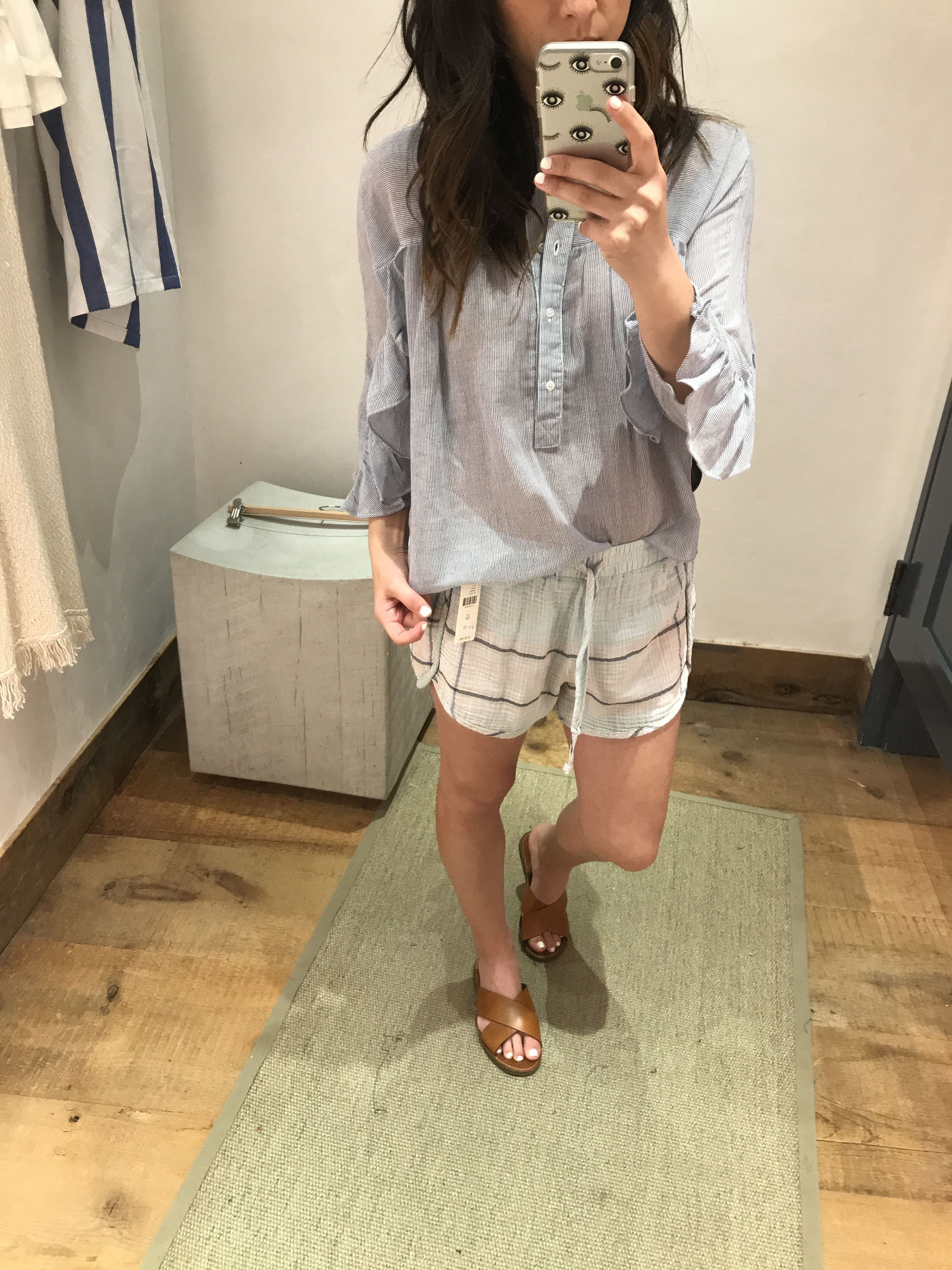 Anthropologie striped blouse 3