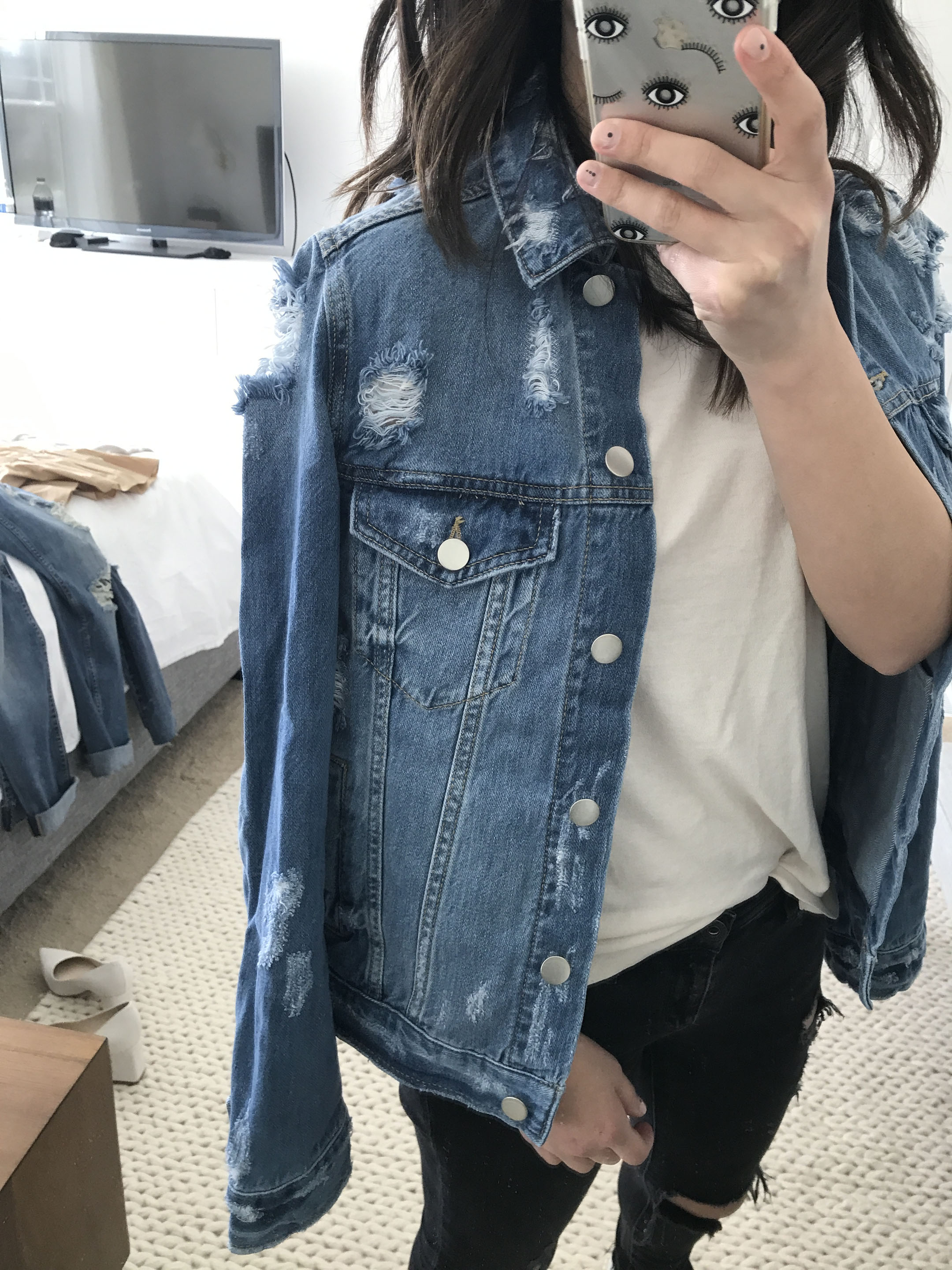 BP distressed denim jacket 1