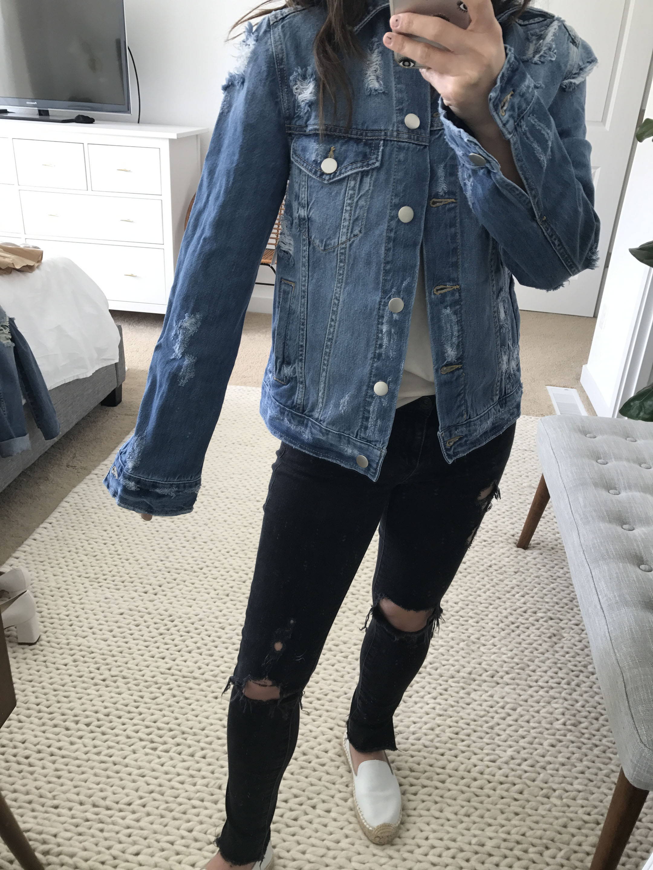 BP distressed denim jacket 2