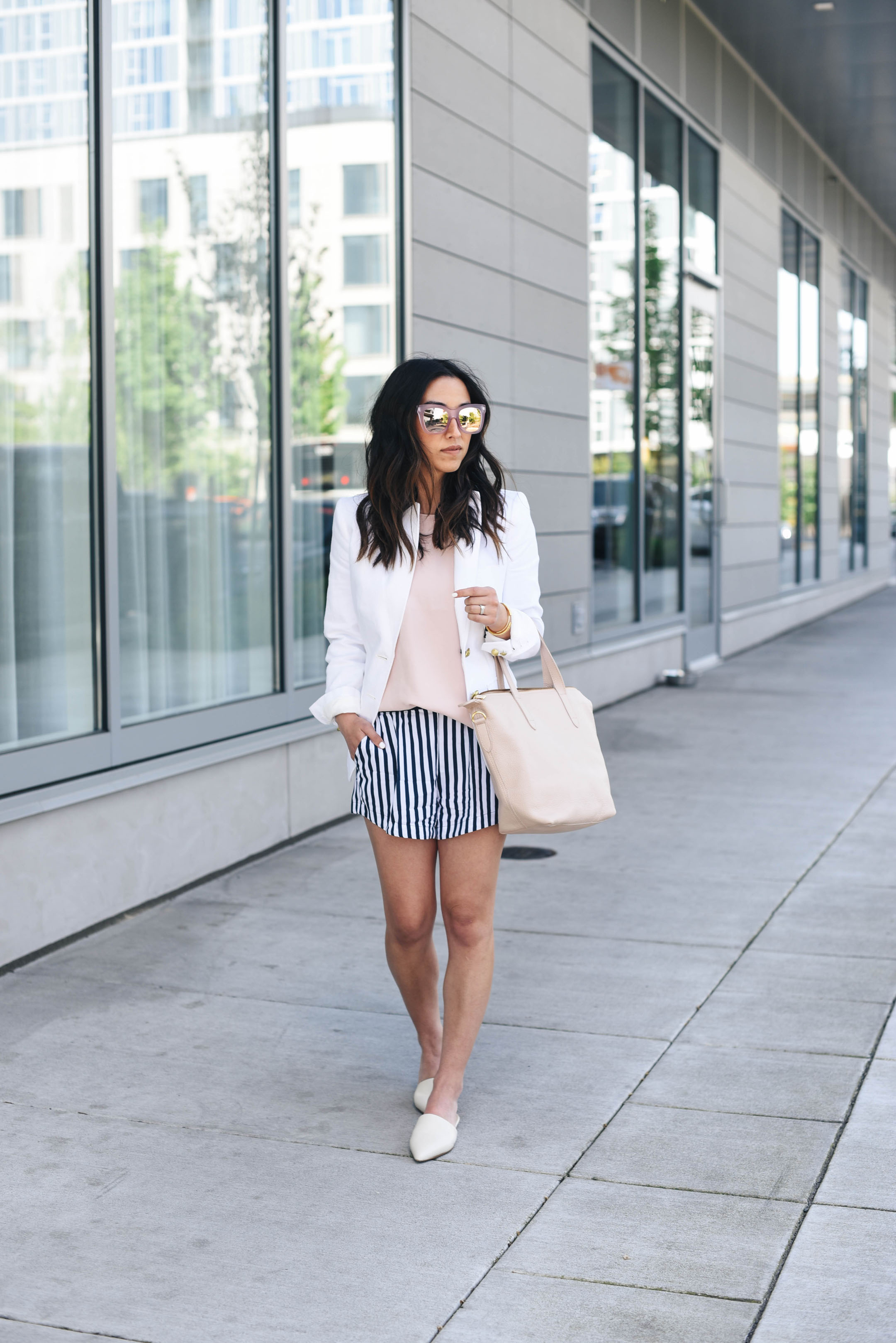 How to style a white blazer in the summer