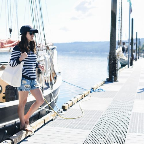 J.Crew Factory navy striped sweater