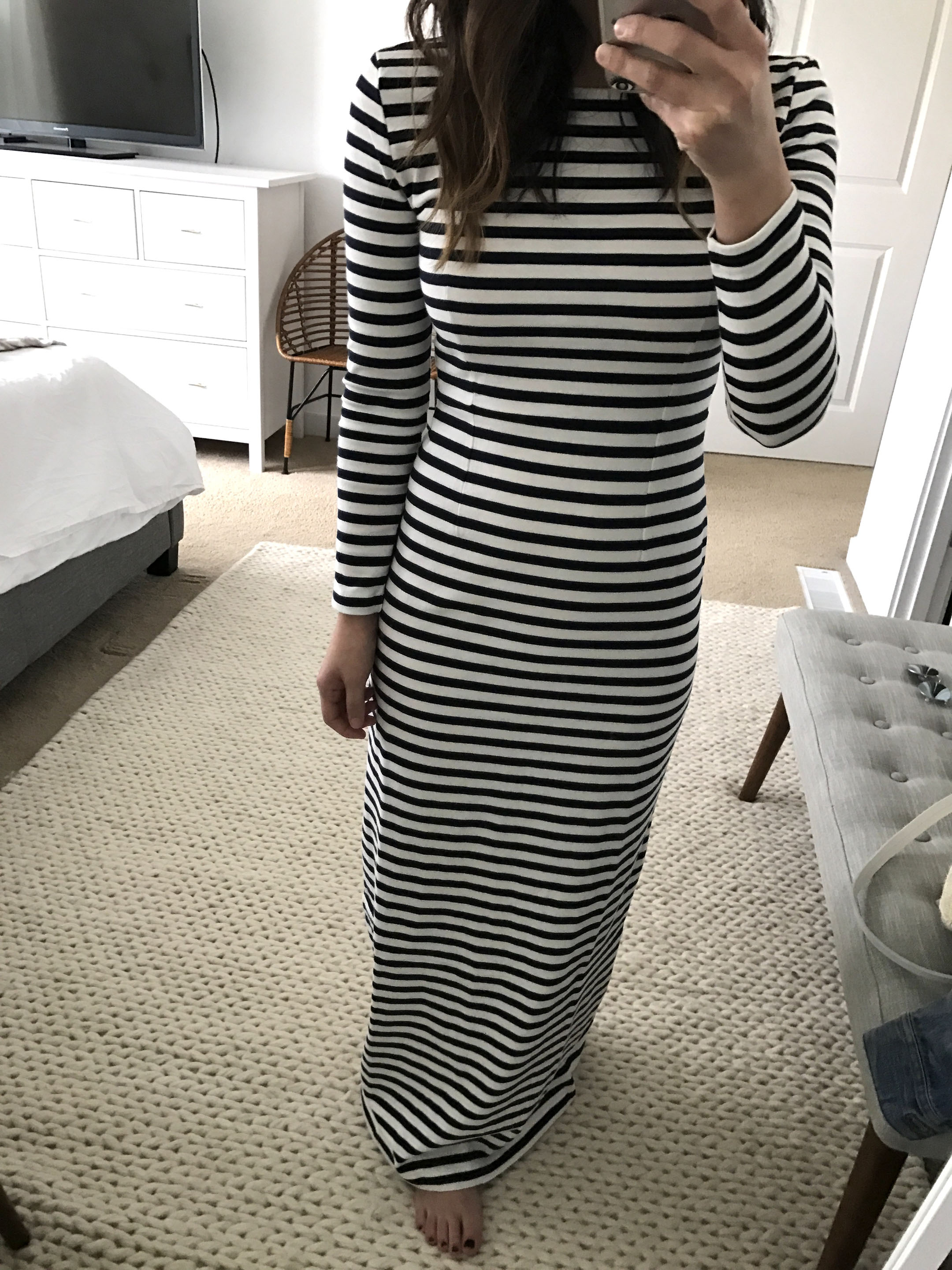 J.Crew Striped Maxi Dress 3