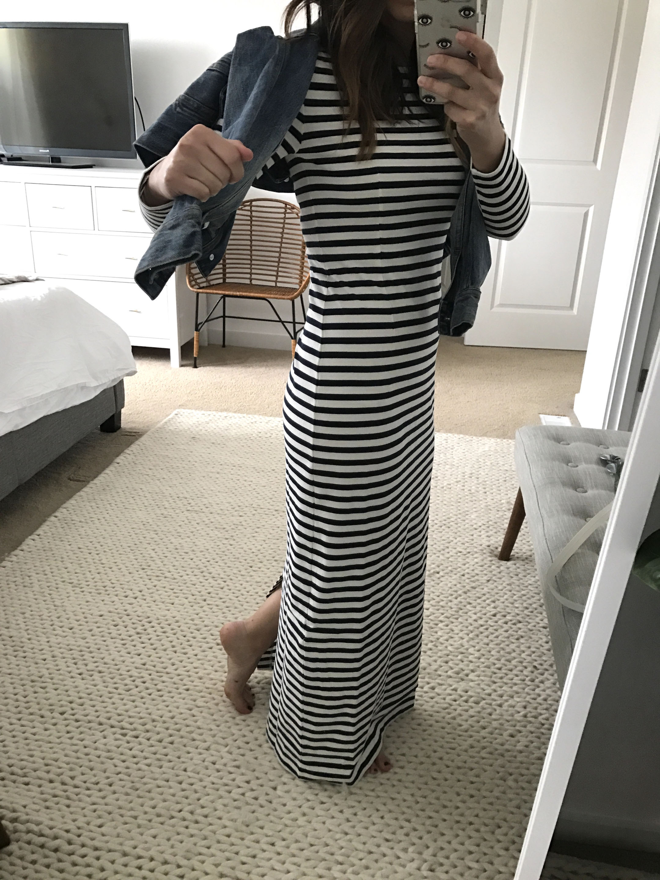 J.Crew Striped Maxi Dress 4