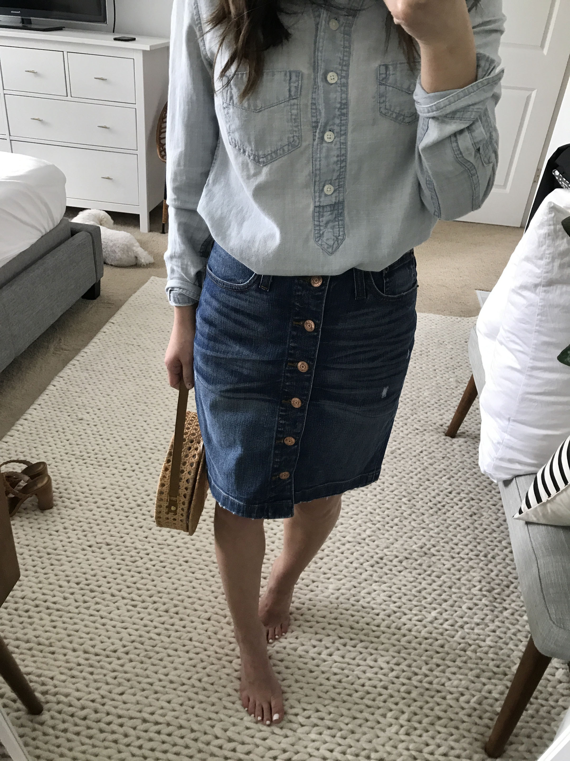 J.Crew denim pencil skirt 4
