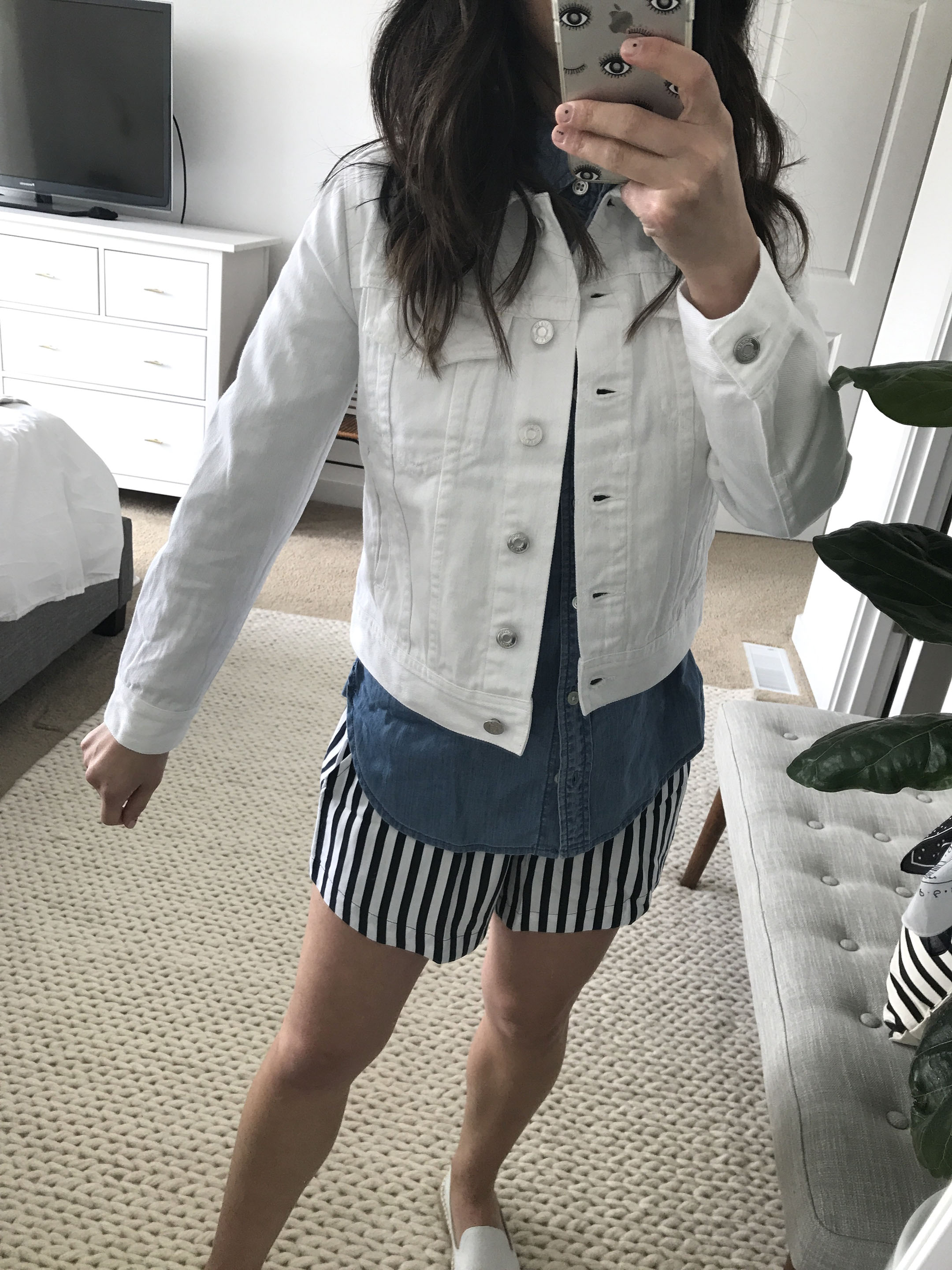 J.Crew white denim jacket 1
