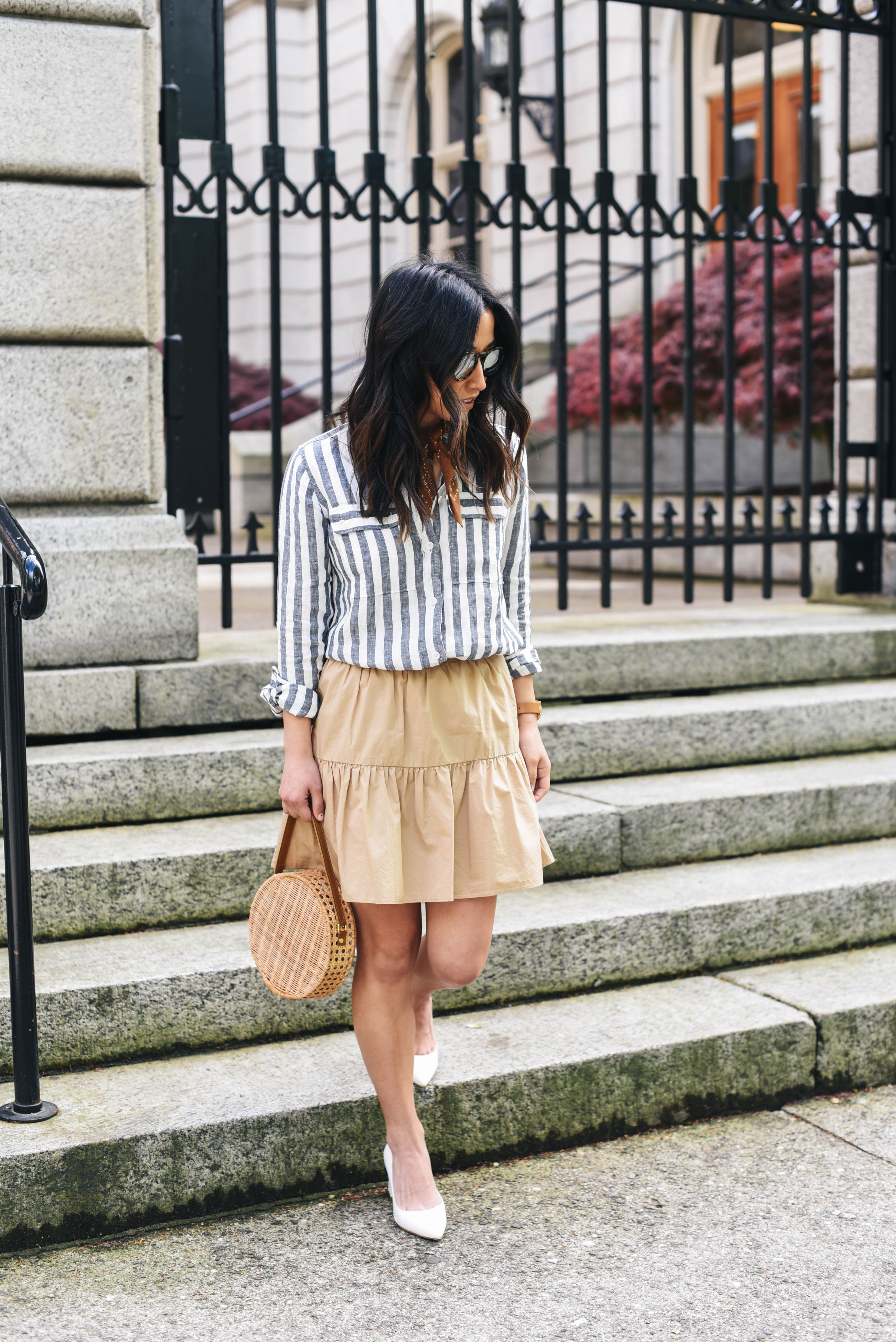 J.crew chambray striped shirt
