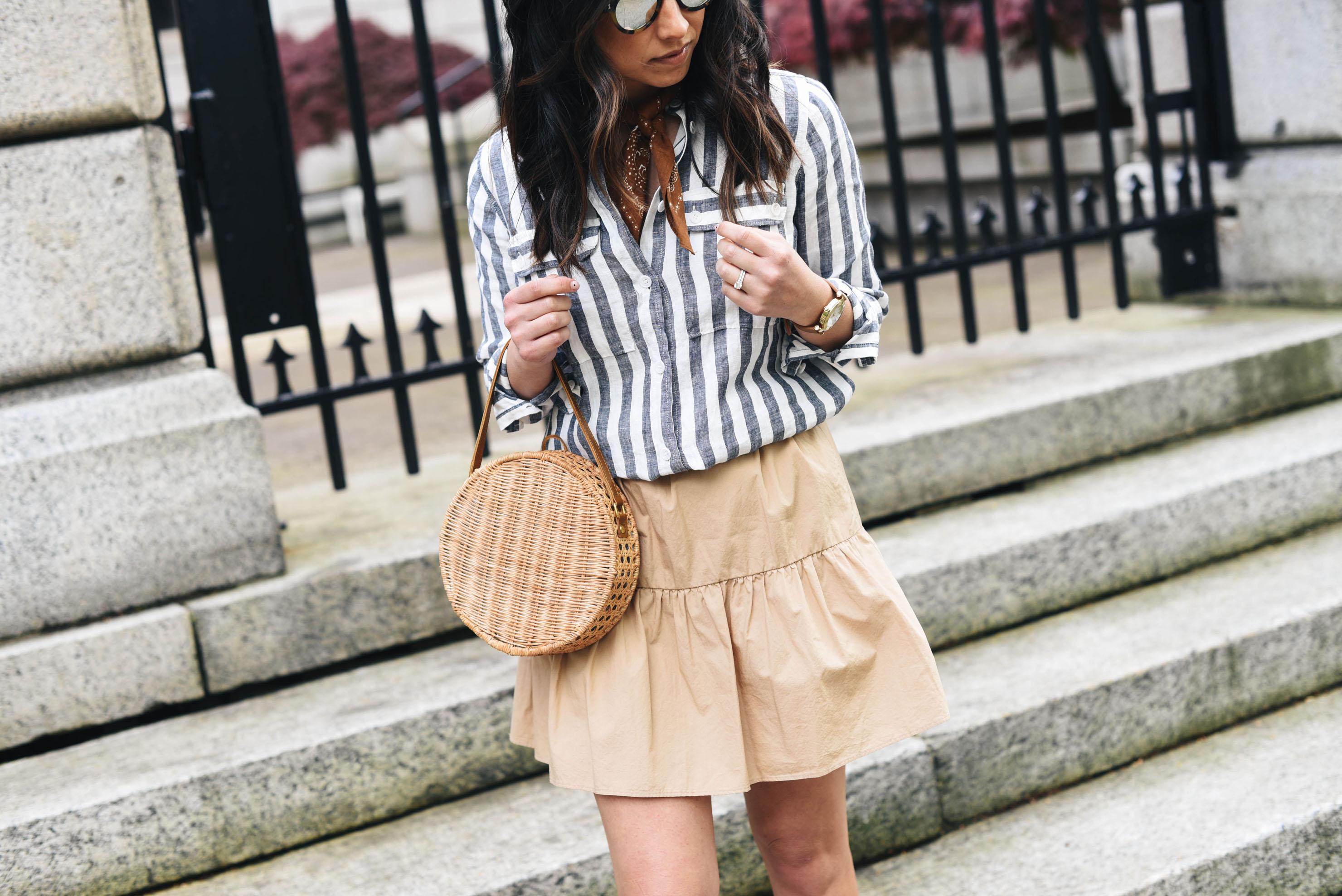 Madewell beige skirt