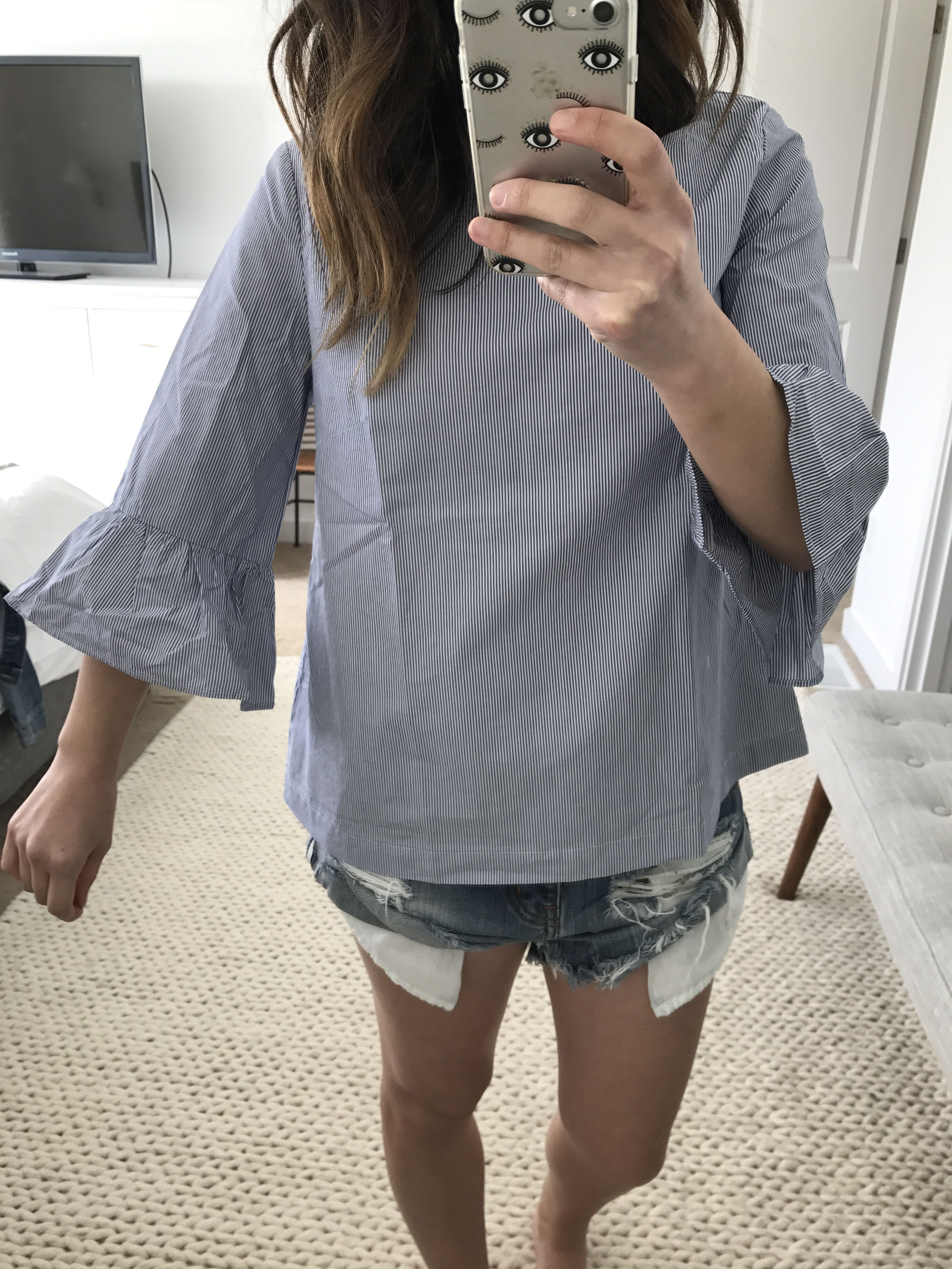 Madewell bell sleeve top 1