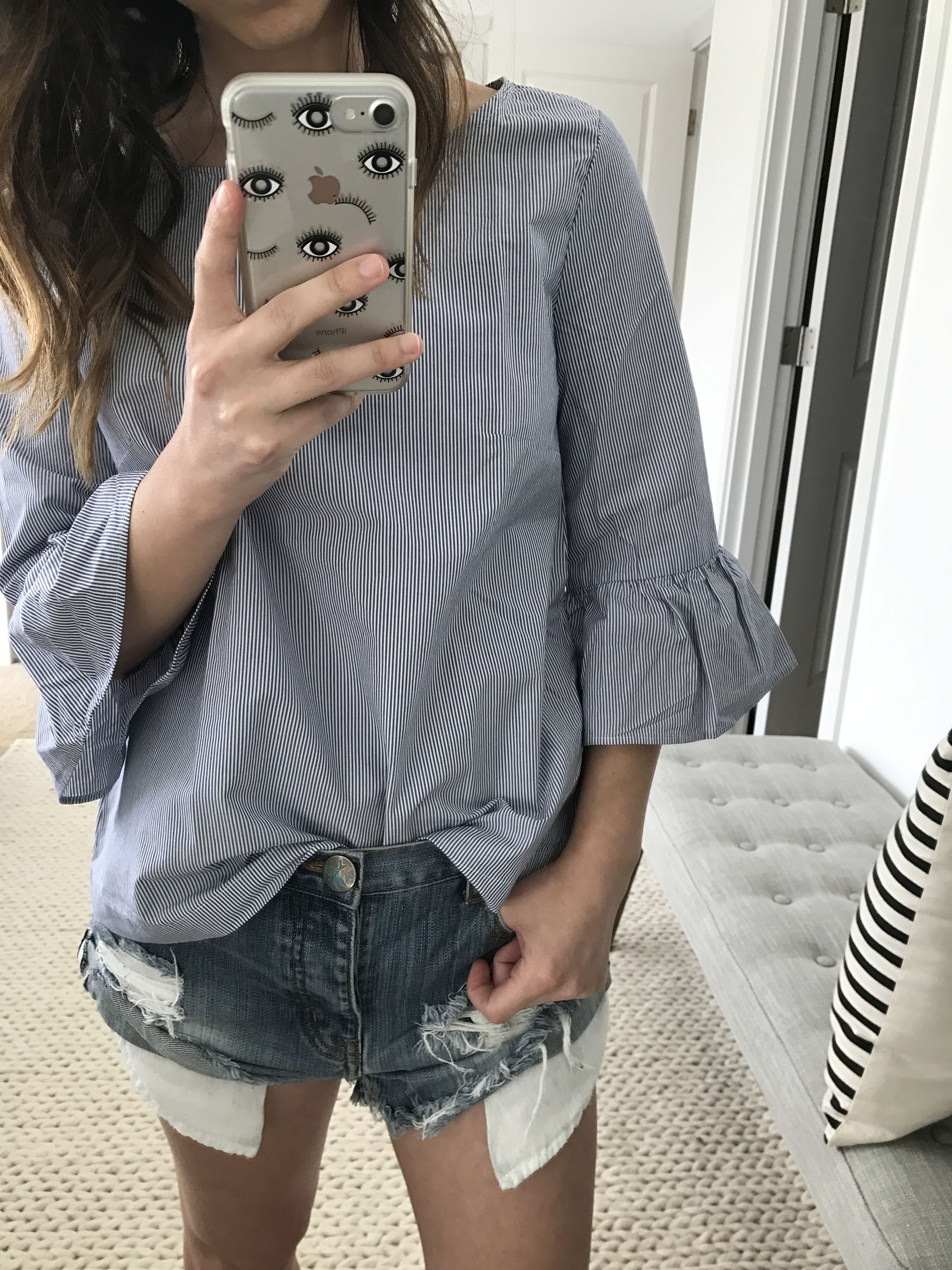 Madewell bell sleeve top 4