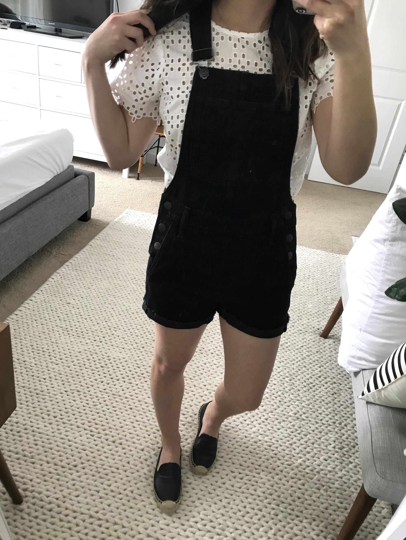 Madewell black overalls 1