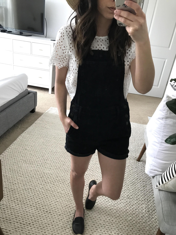 Madewell black overalls 3