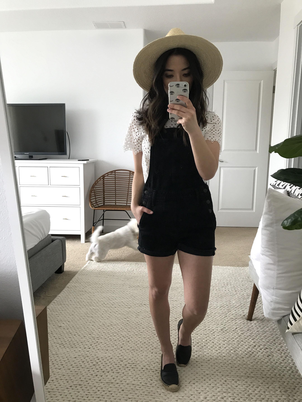 Madewell black overalls 4