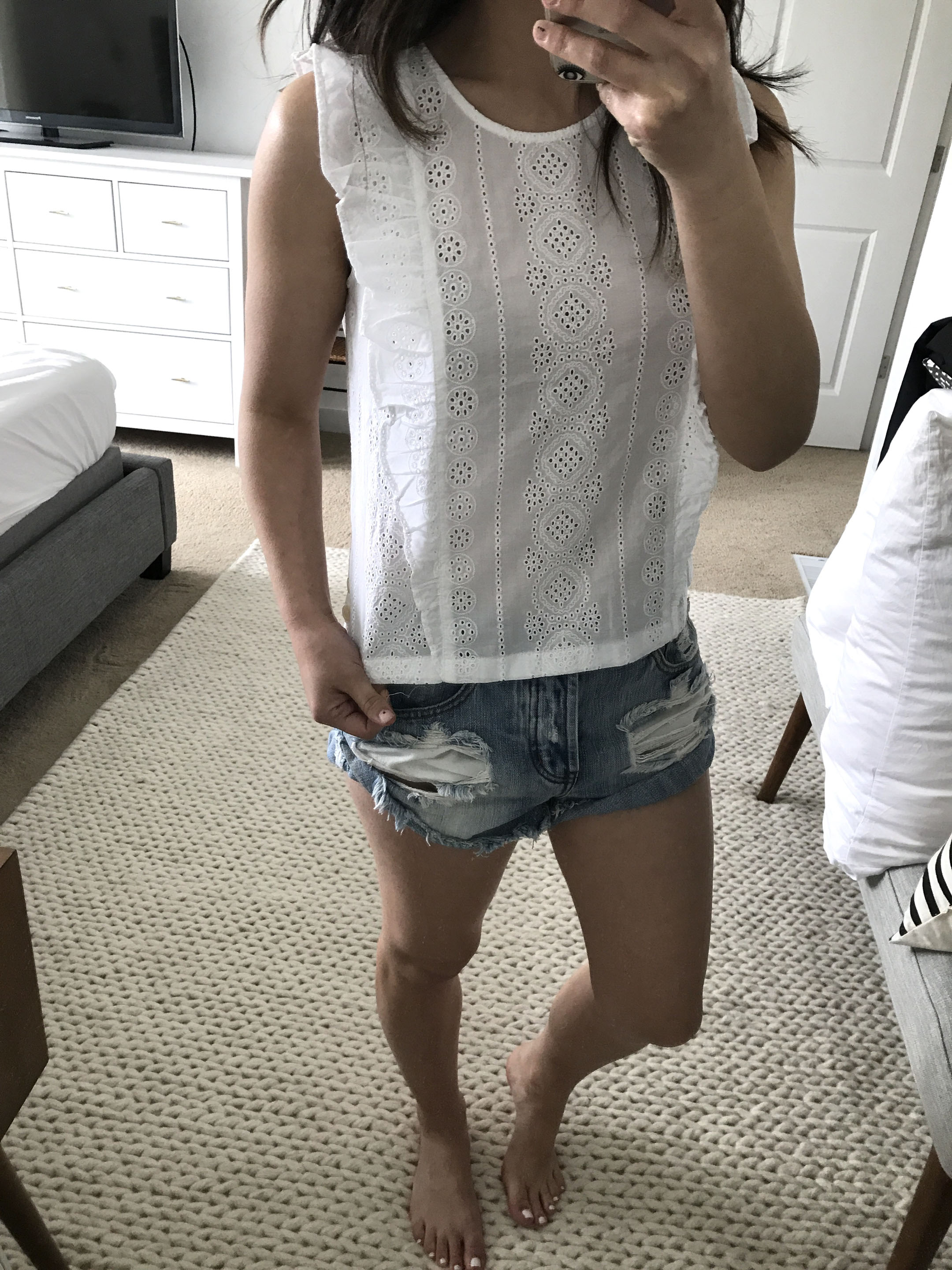 Madewell eyelet top 1