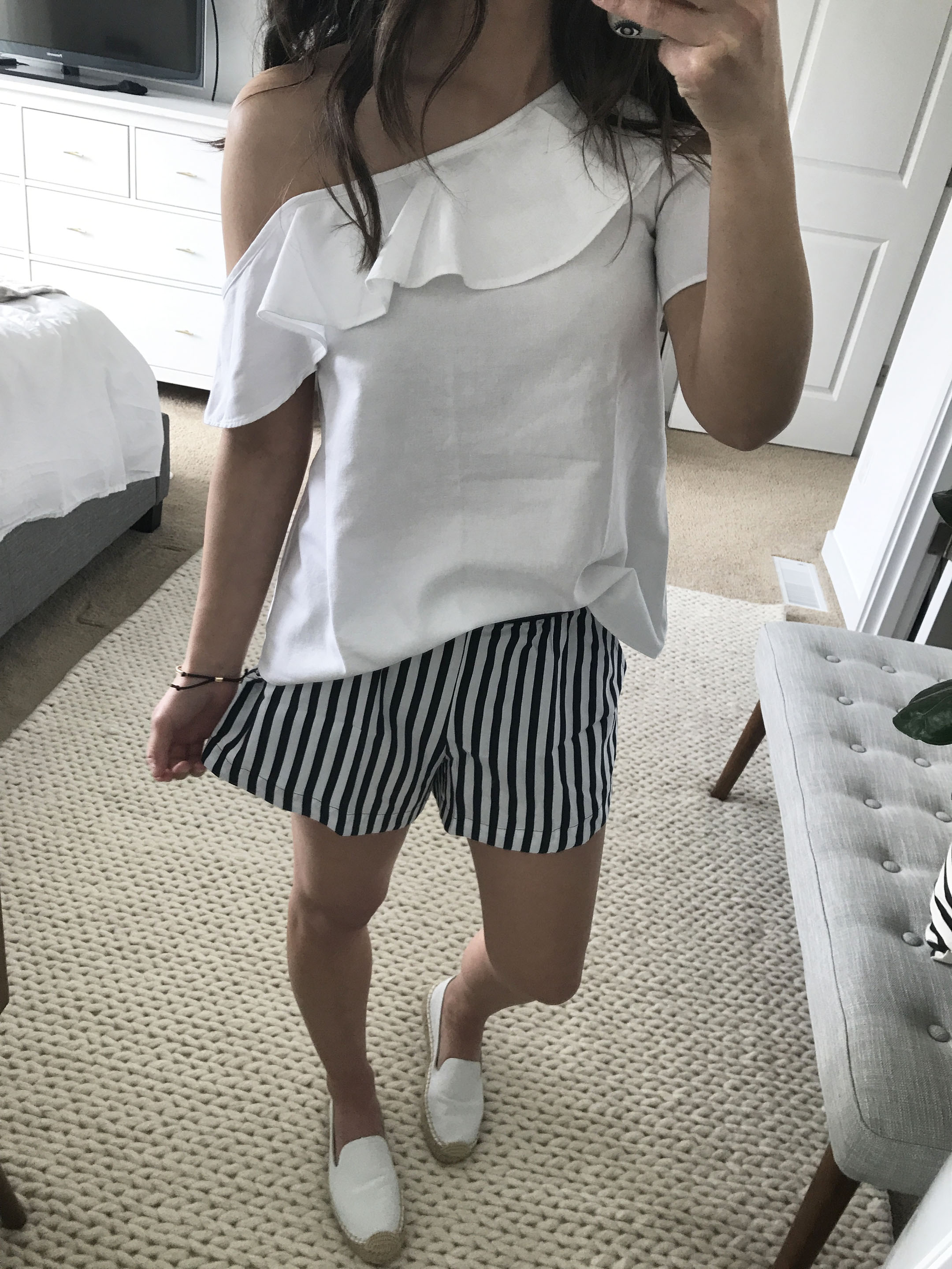 Madewell one shoulder top 1
