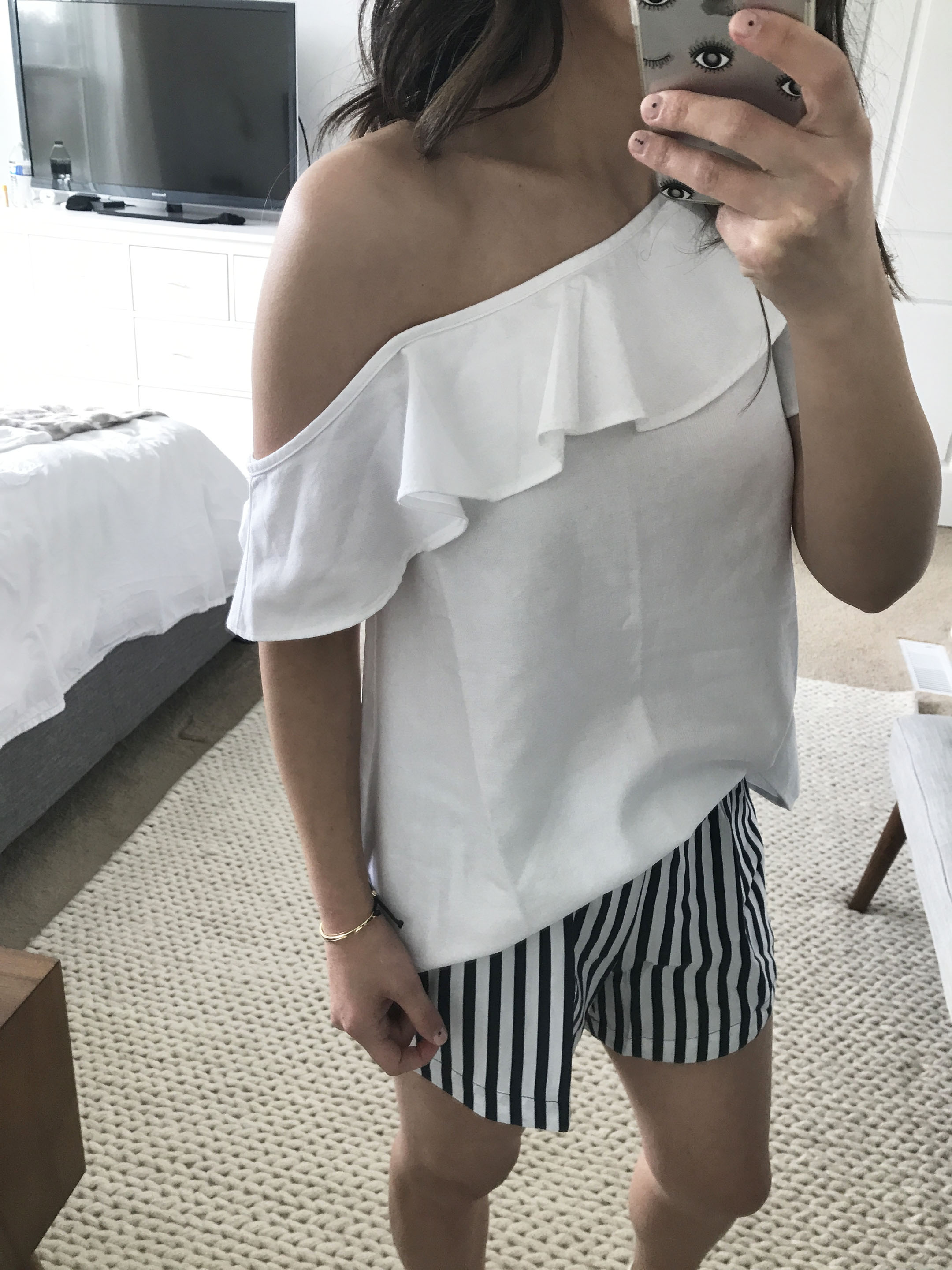 Madewell one shoulder top 2