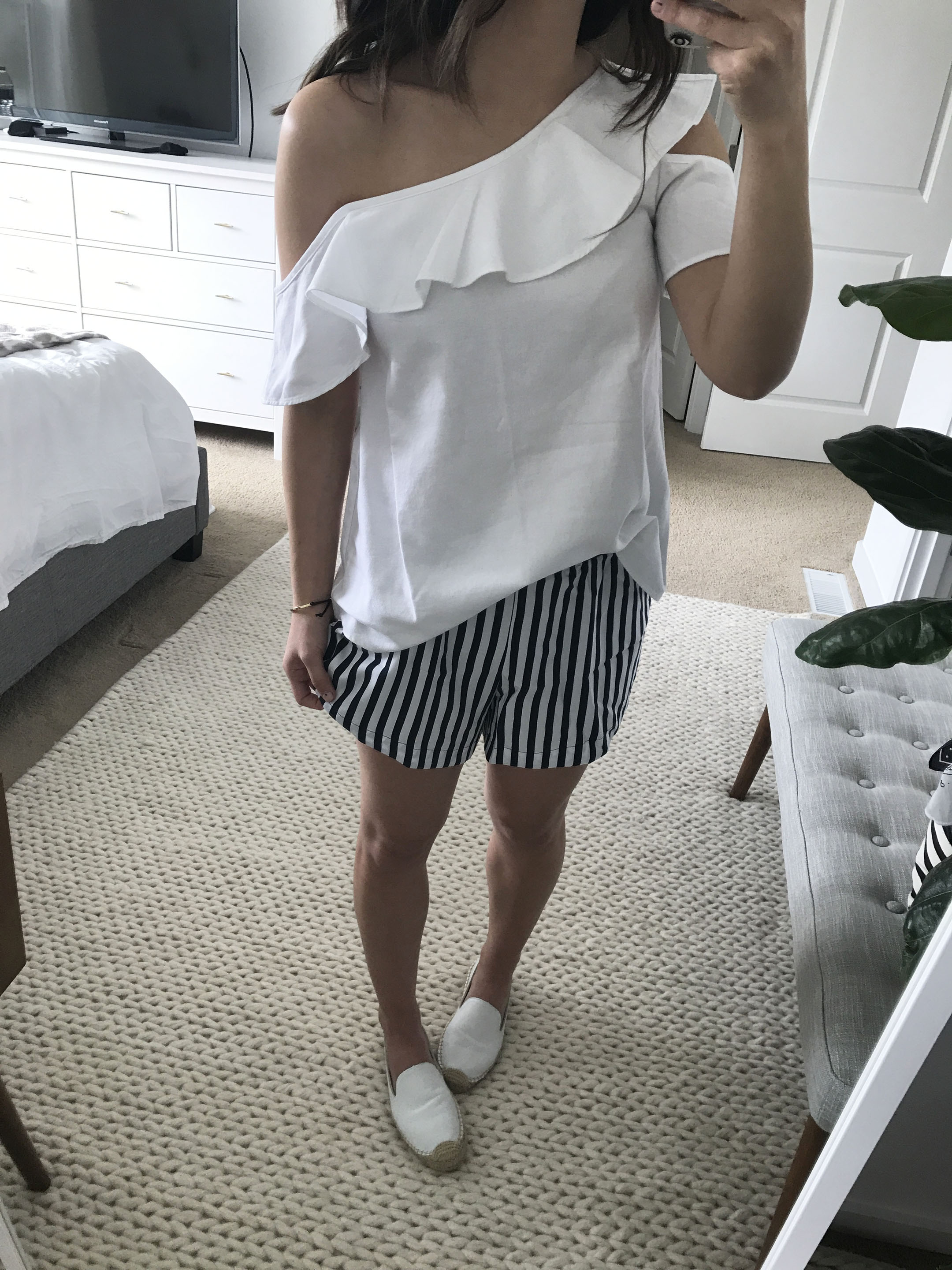Madewell one shoulder top 3