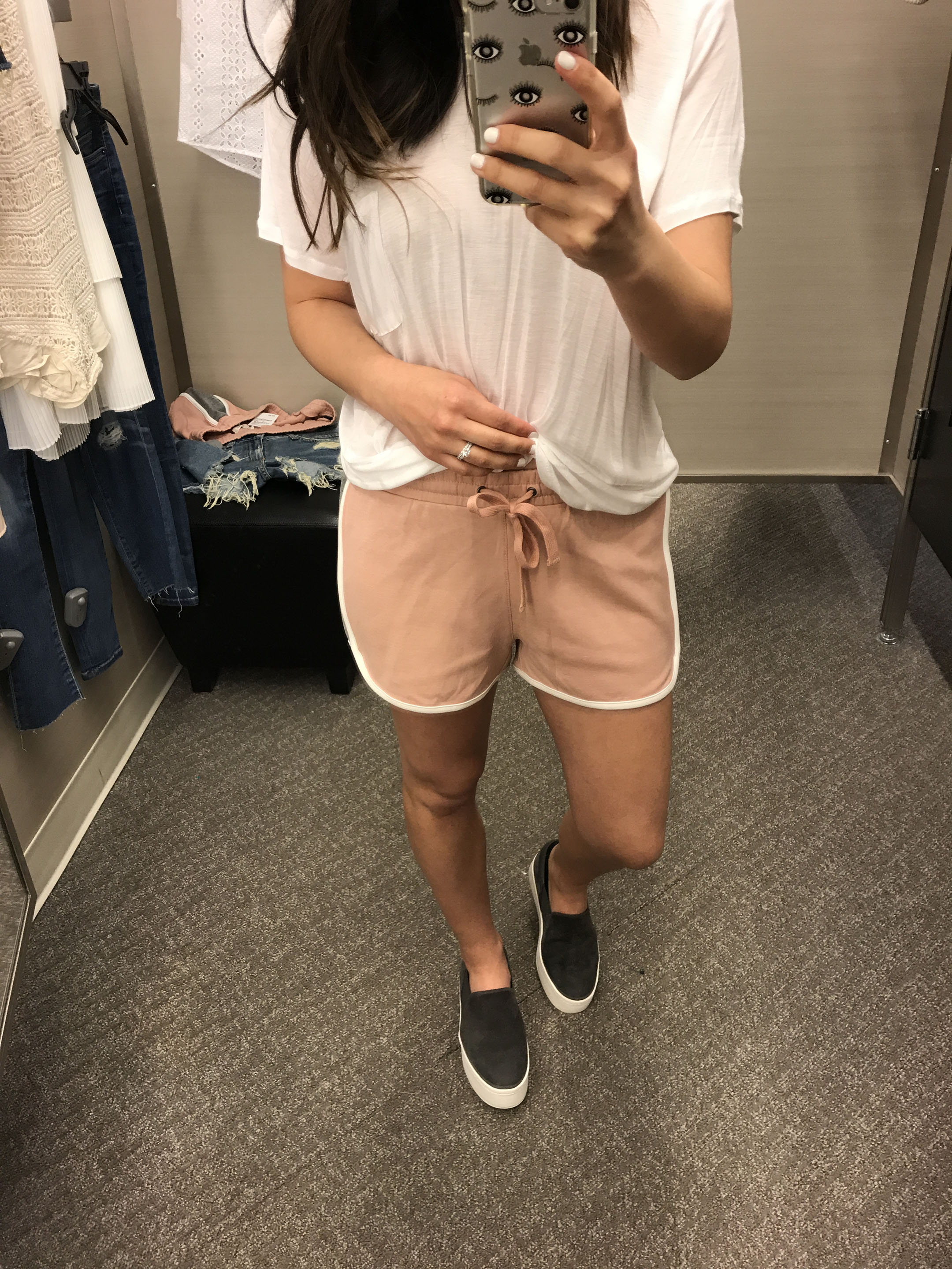Madewell pink shorts 1