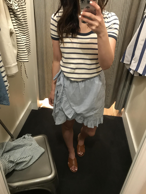 Madewell ruffle skirt 1