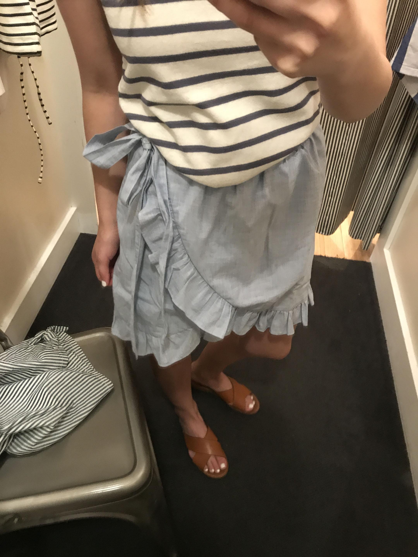 Madewell ruffle skirt 2