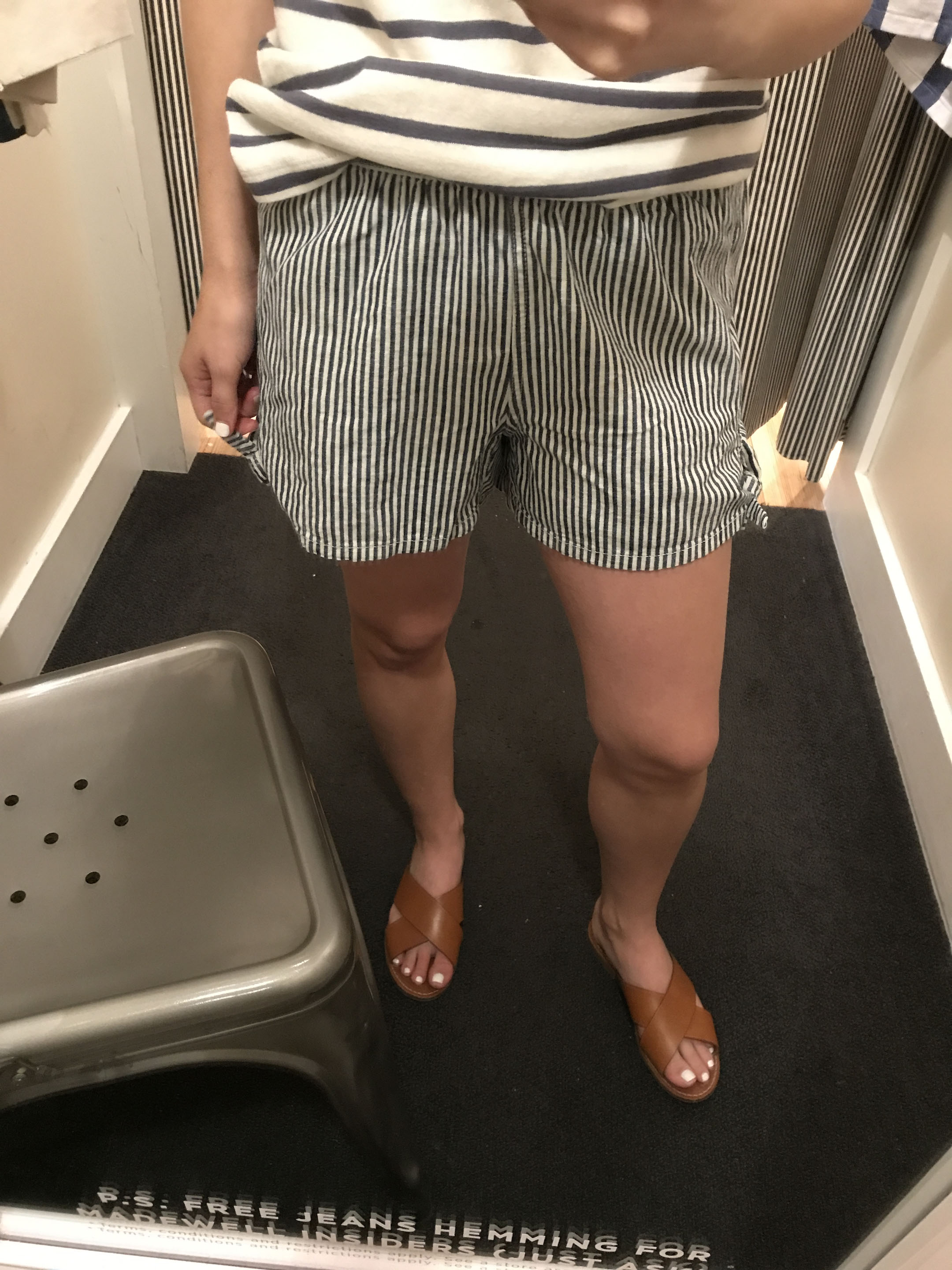 Madewell striped shorts 2