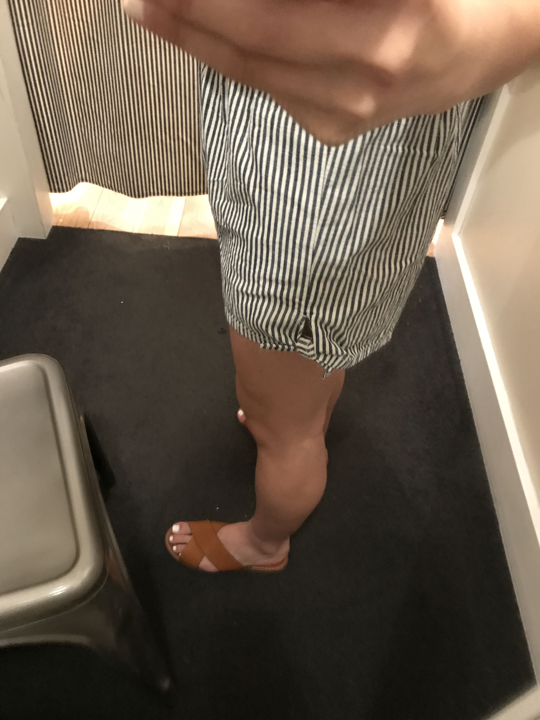 Madewell striped shorts 3